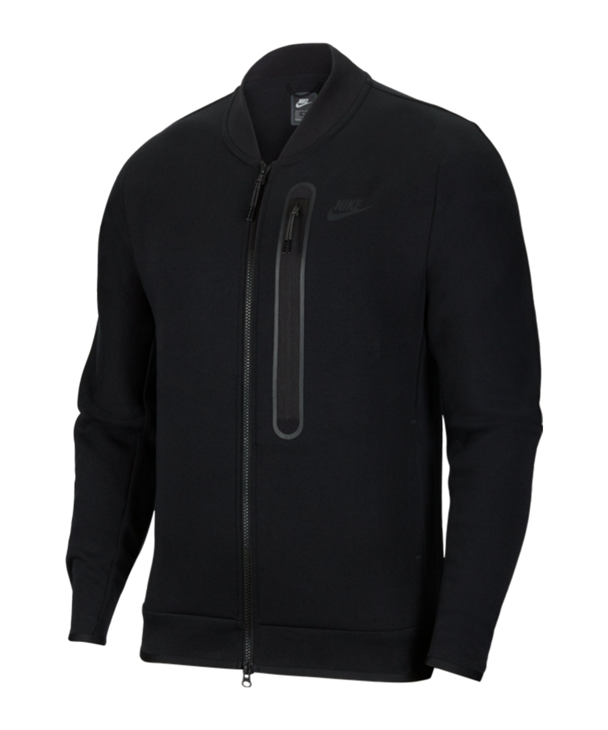 Nike Tech Fleece Bomber Jacke Schwarz F010 - schwarz