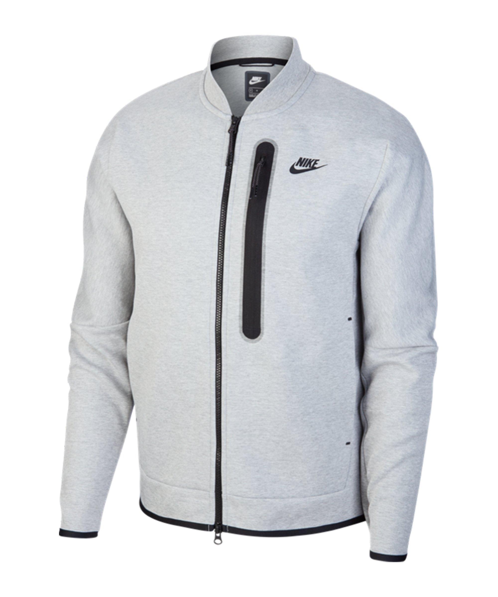 Nike Tech Fleece Bomber Jacker Grau F063 - grau
