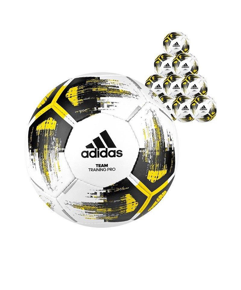 adidas Team Trainingpro 50xFußball Weiss Gelb - weiss