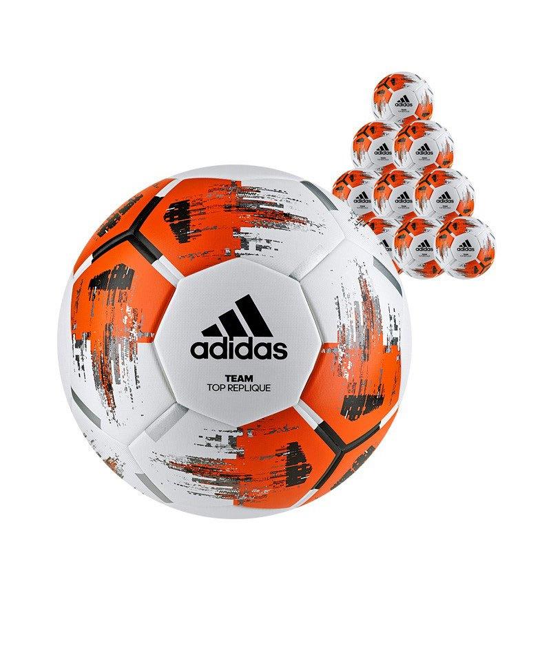 adidas Team Topreplique 10xFußball Weiss Orange - weiss