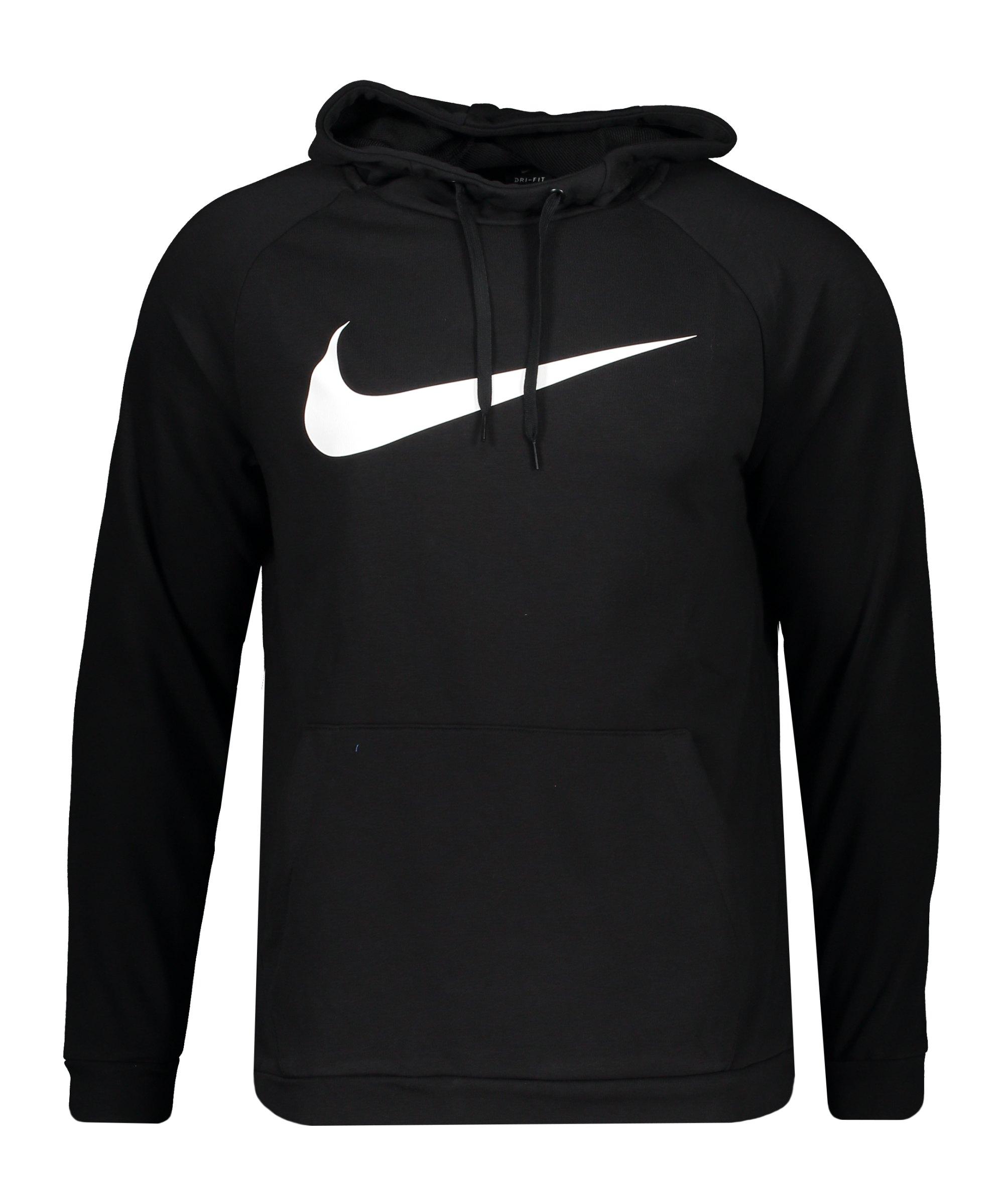 Nike Dir-FIT Swoosh Hoody Schwarz Weiss F010 - schwarz