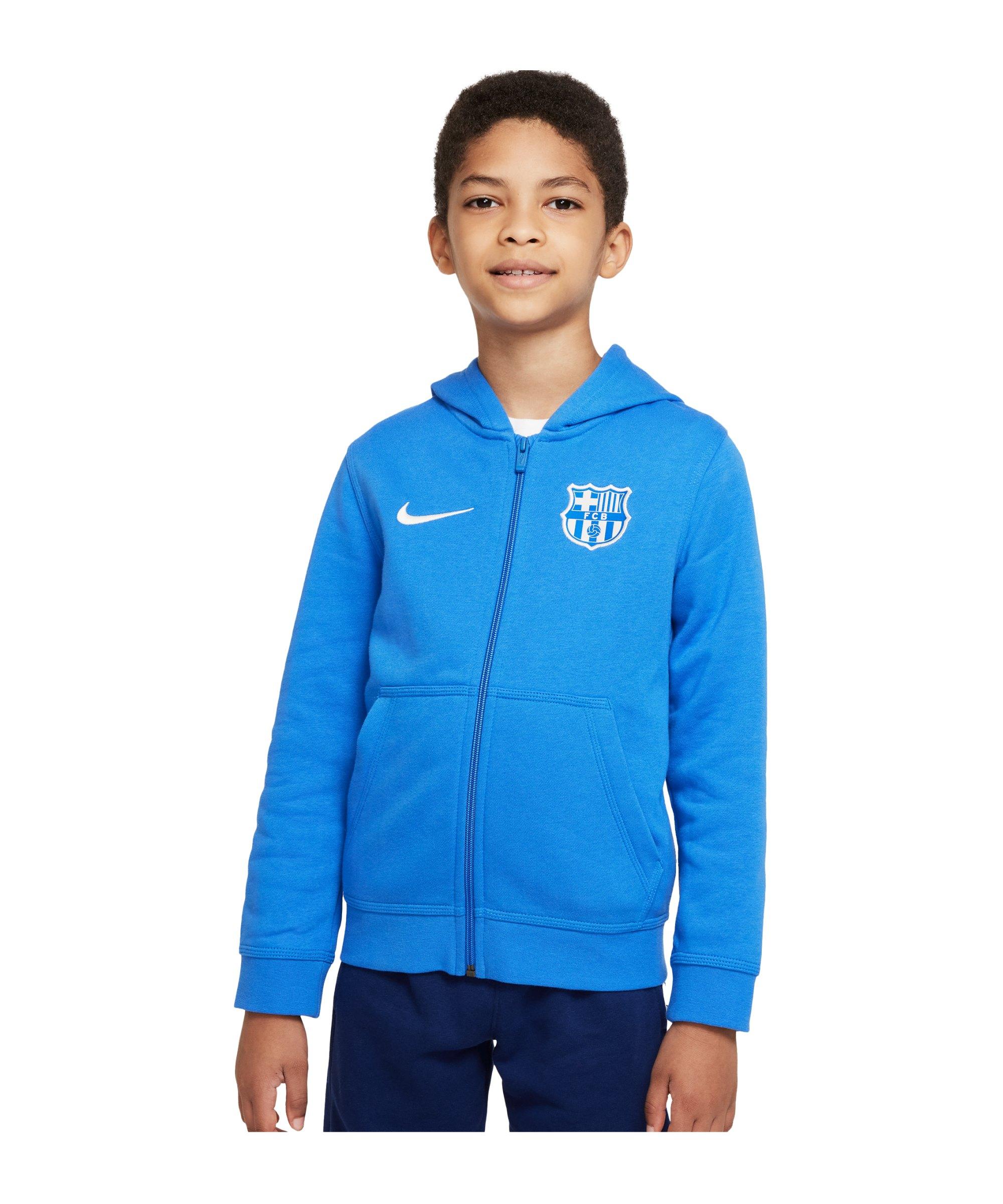 Nike FC Barcelona Kapuzenjacke Kids Blau F427 - blau