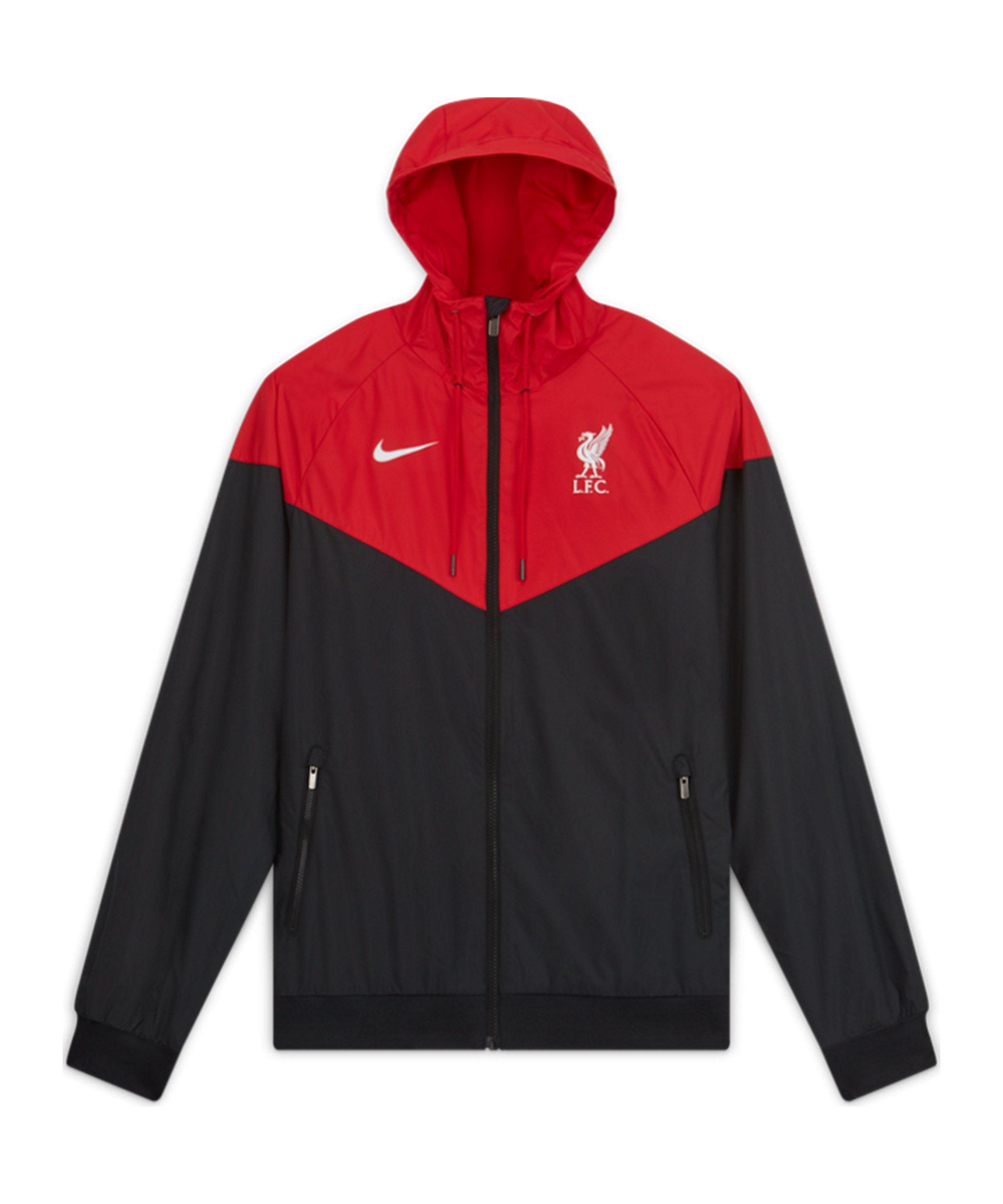 Nike FC Liverpool Woven Windrunner Schwarz F010 - schwarz
