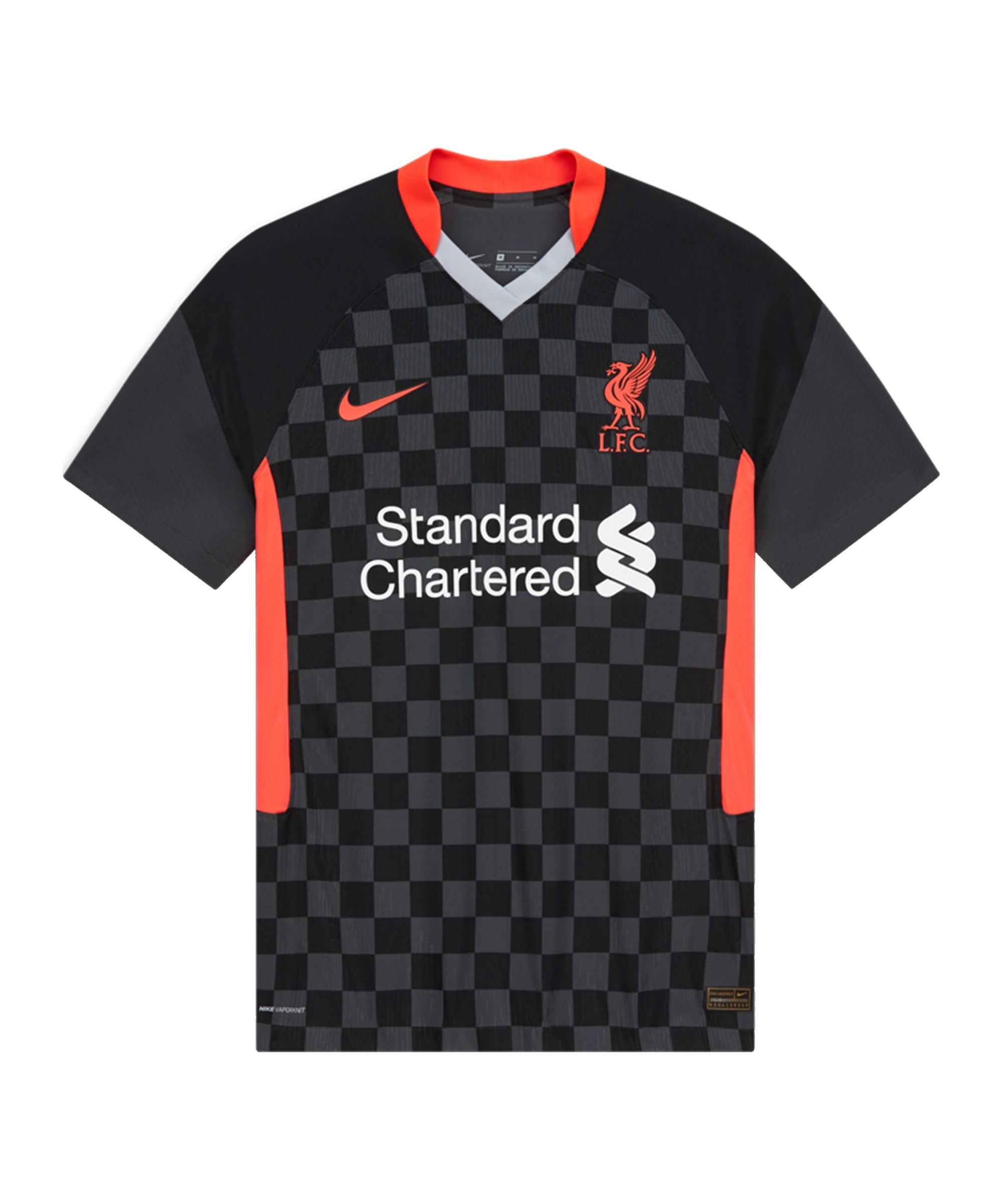 Nike FC Liverpool Auth. Trikot UCL 2020/2021 Schwarz F060 - schwarz