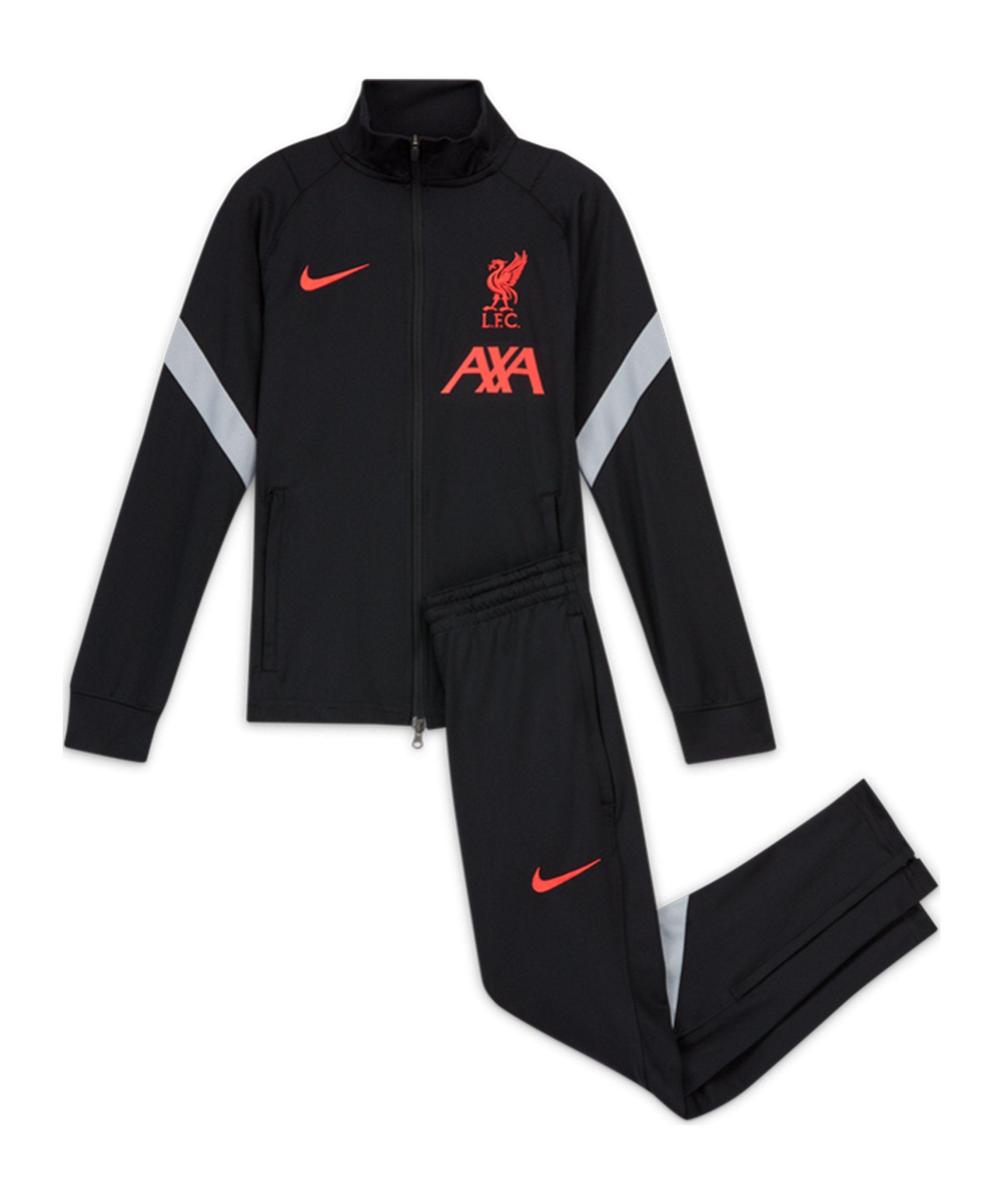 FC Liverpool Dry Strike Trainingsanzug CL Kids Schwarz F010 - schwarz