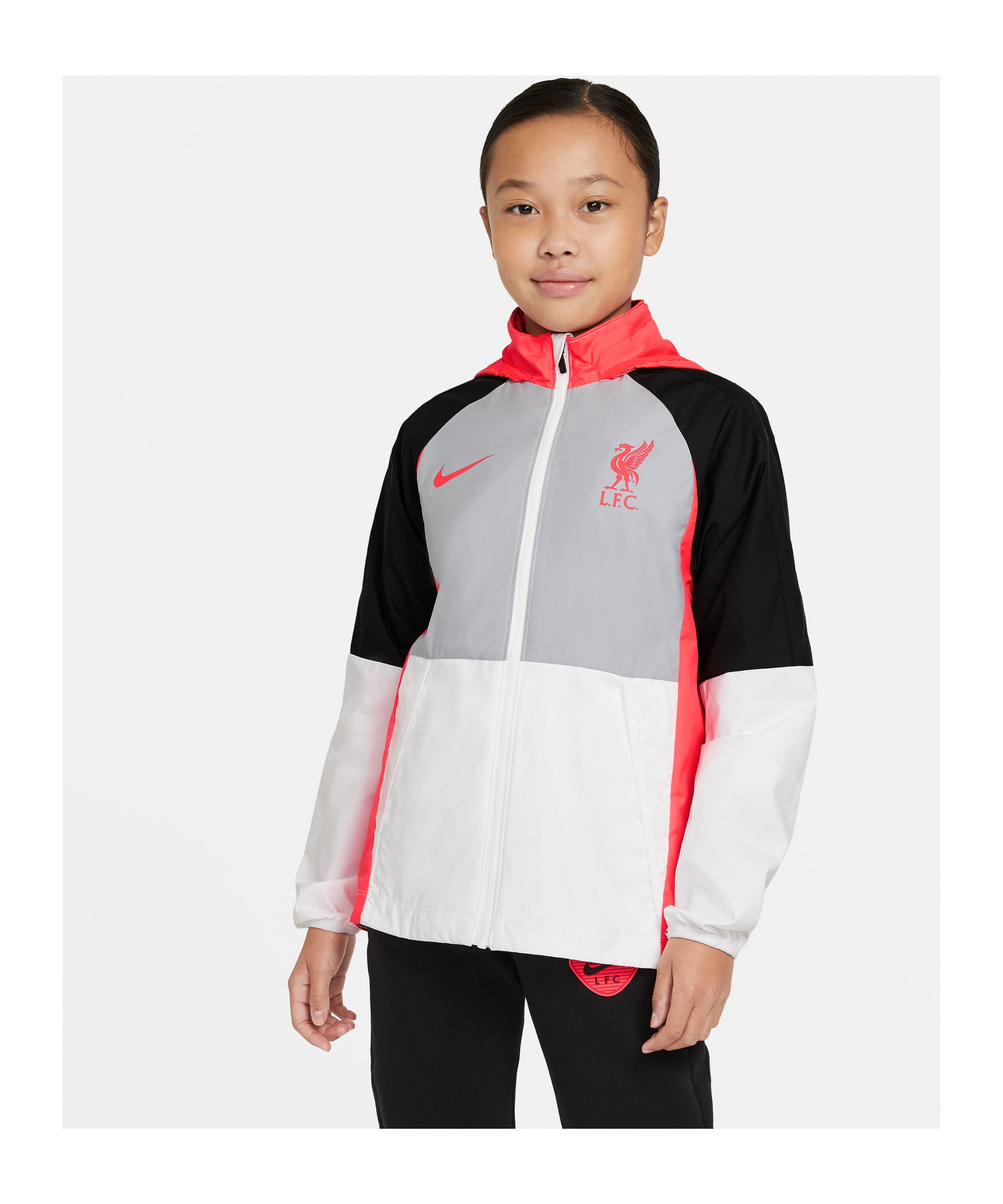 Nike FC Liverpool Allwetterjacke Kids Grau F012 - grau