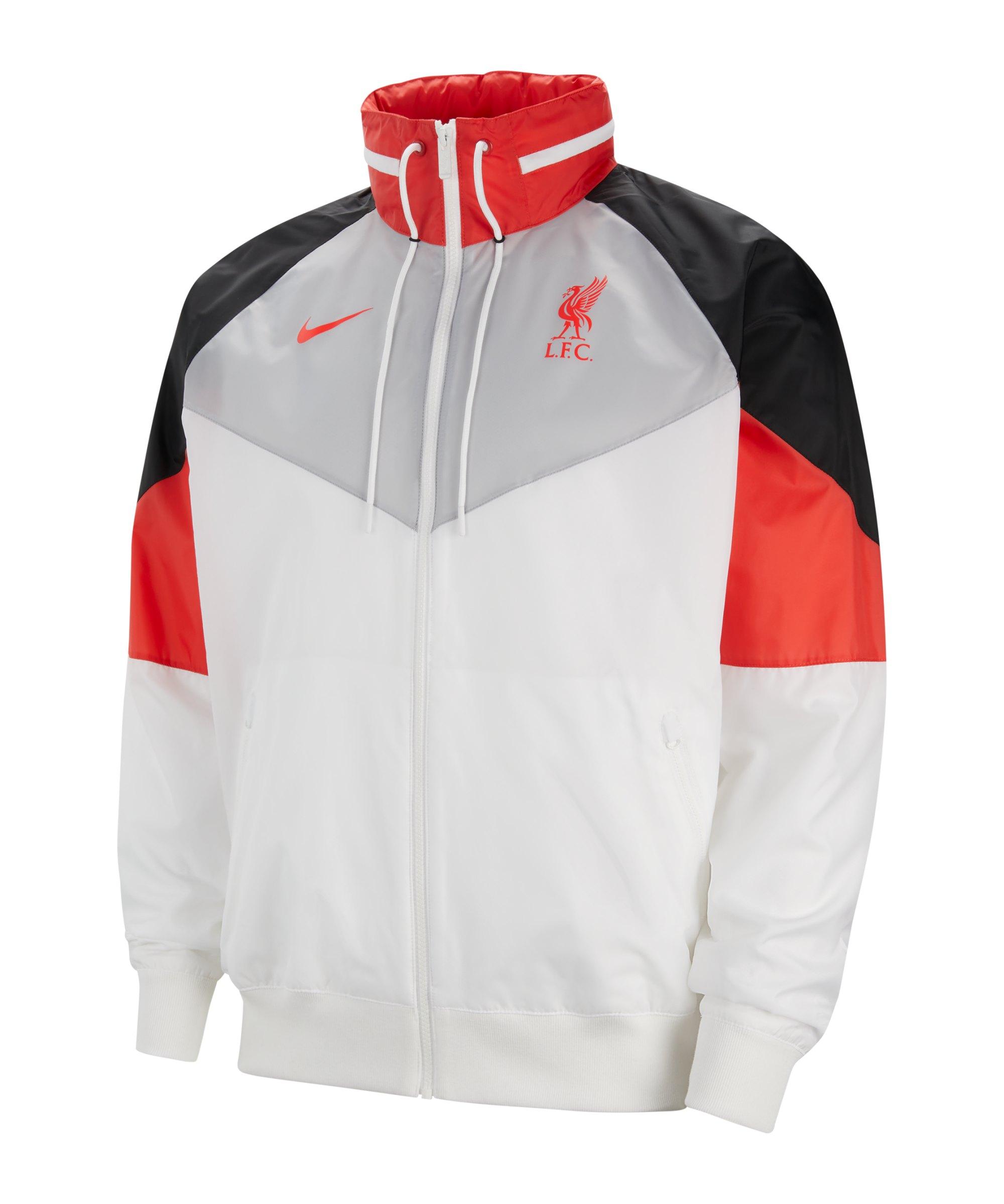 Nike FC Liverpool HD Jacke Weiss Grau F100 - weiss