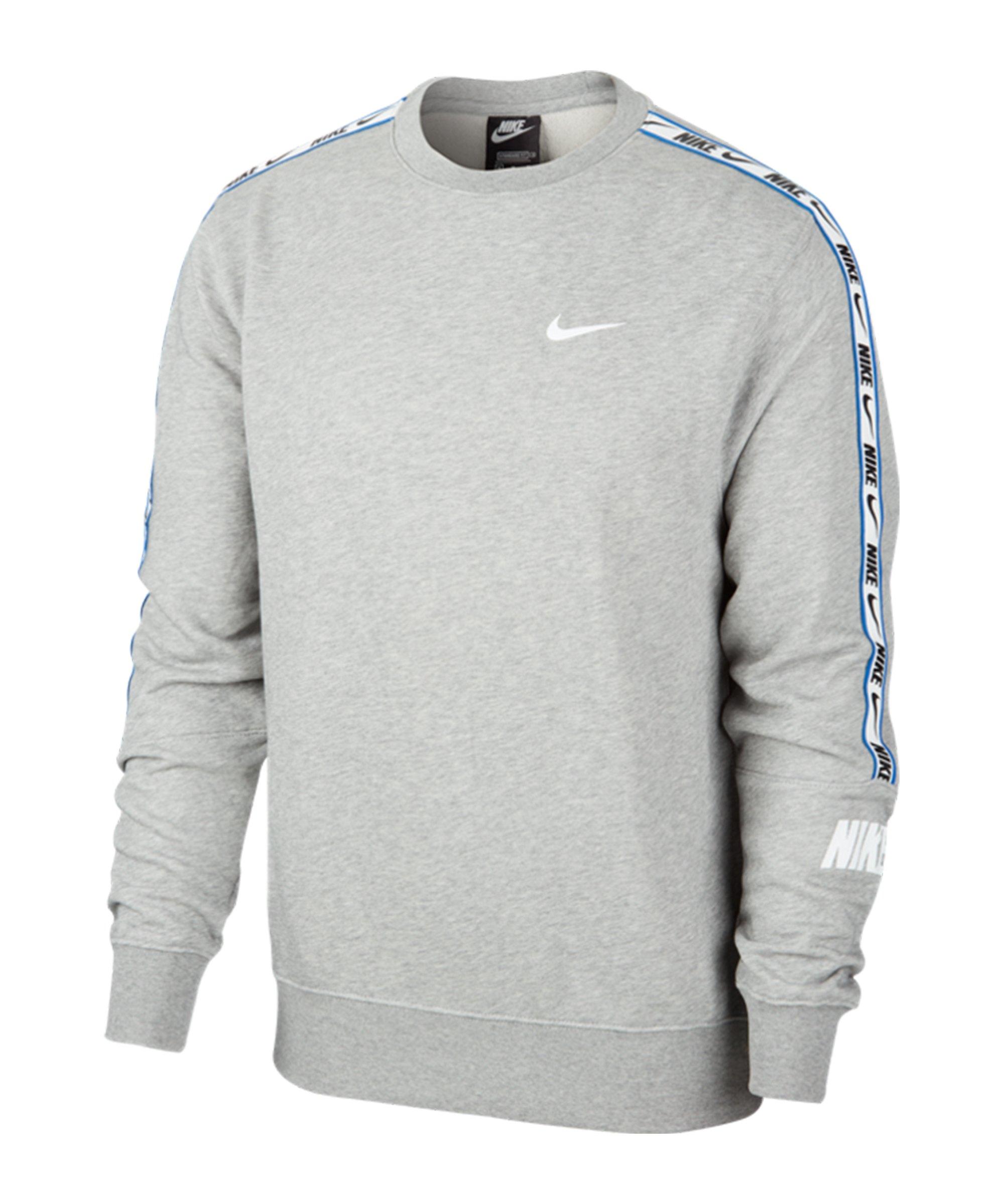 Nike Repeat Crew Sweatshirt Grau F063 - grau