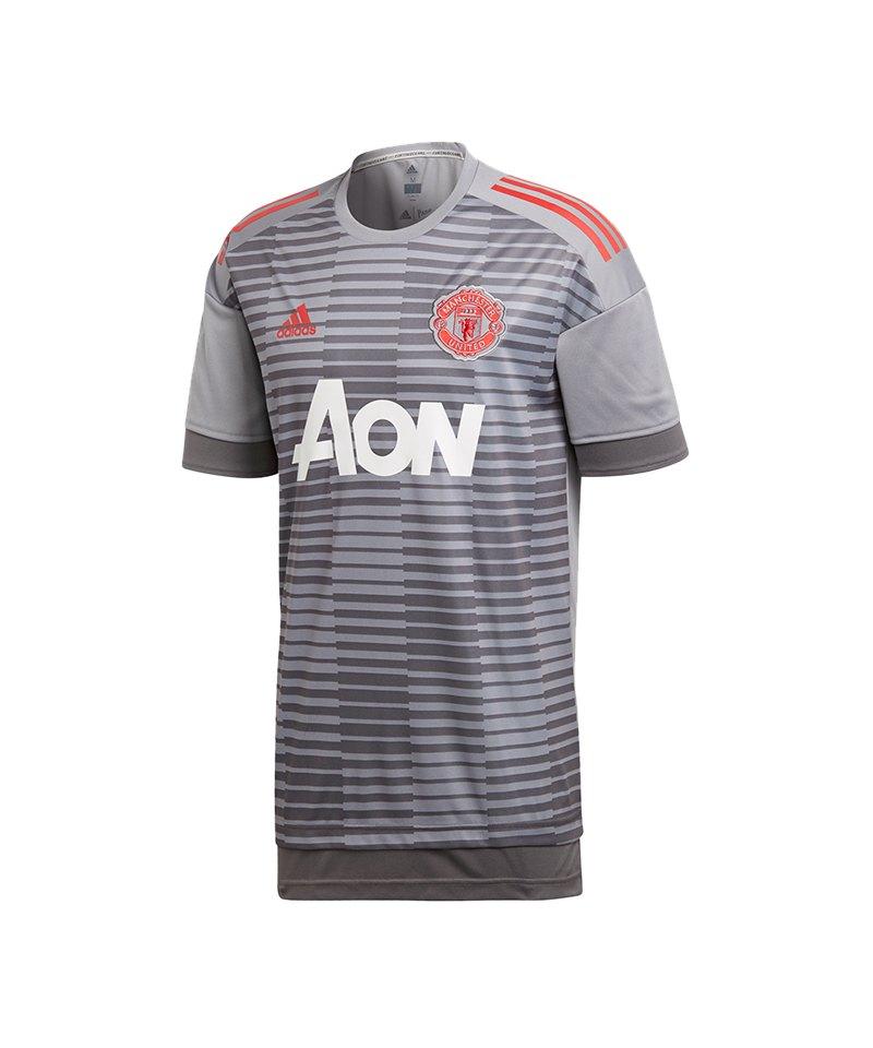 adidas Manchester United Prematch Shirt Grau - grau