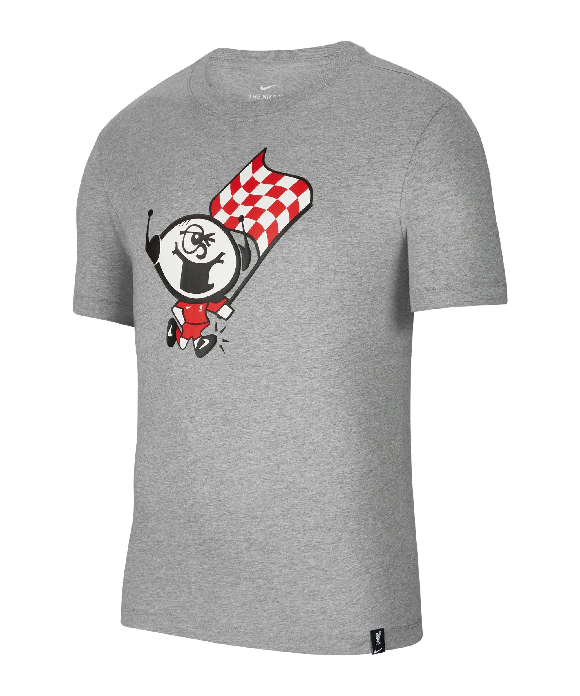 Nike FC Liverpool Ignite T-Shirt Grau F063 - grau