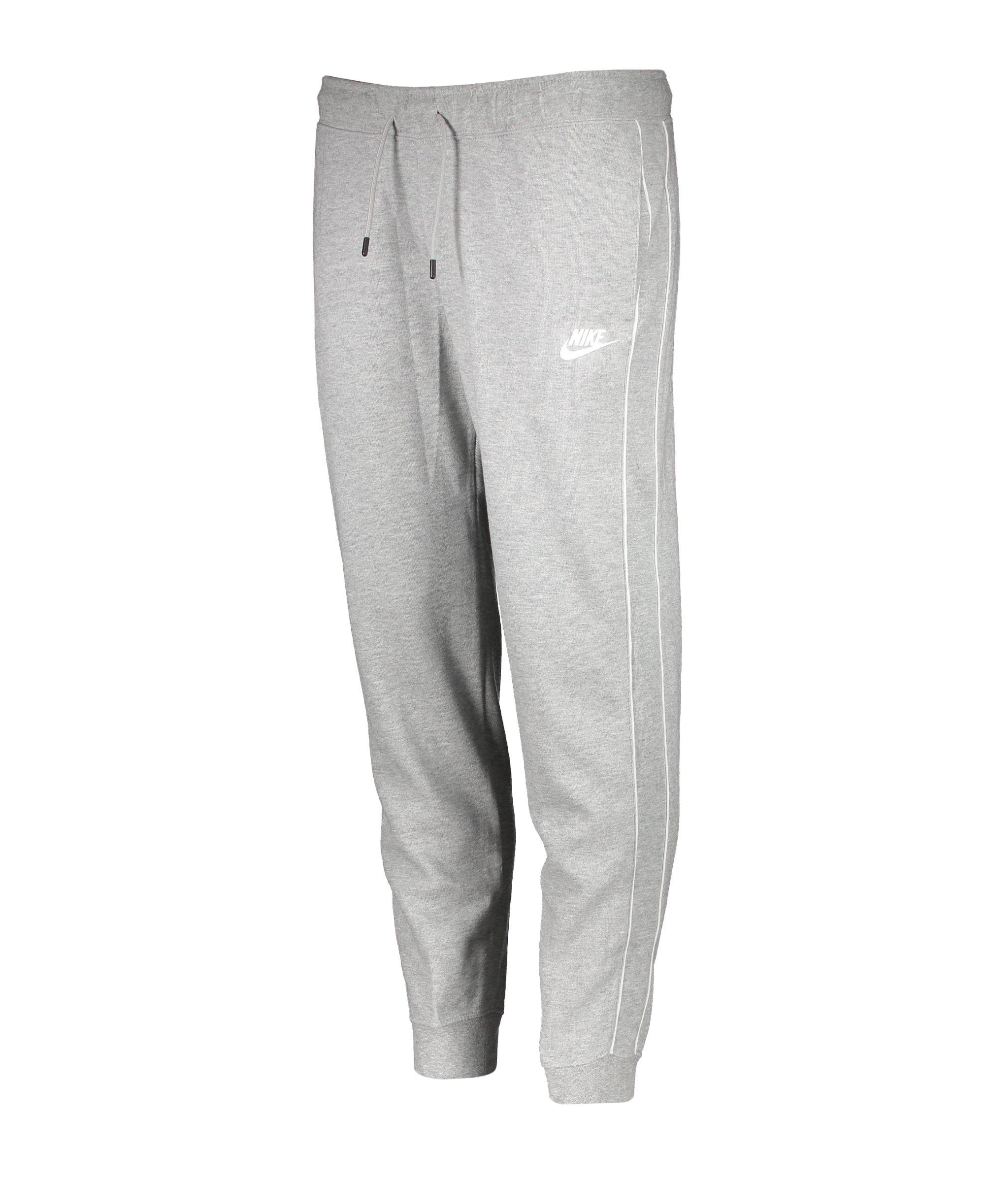 Nike Essentials Joggingshose Damen Grau Weiss F063 - grau