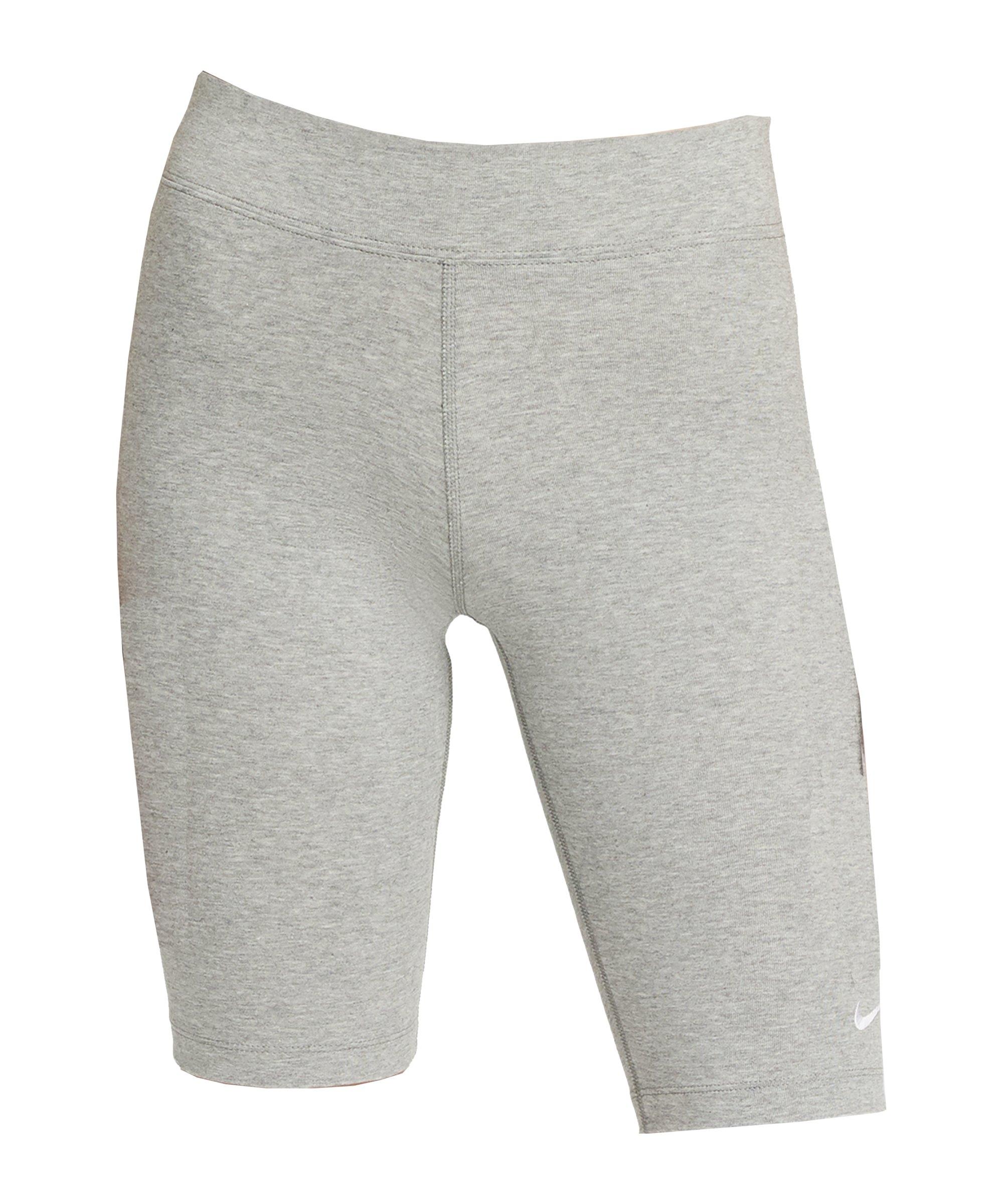 Nike Essential Biker Short Damen Grau F063 - grau