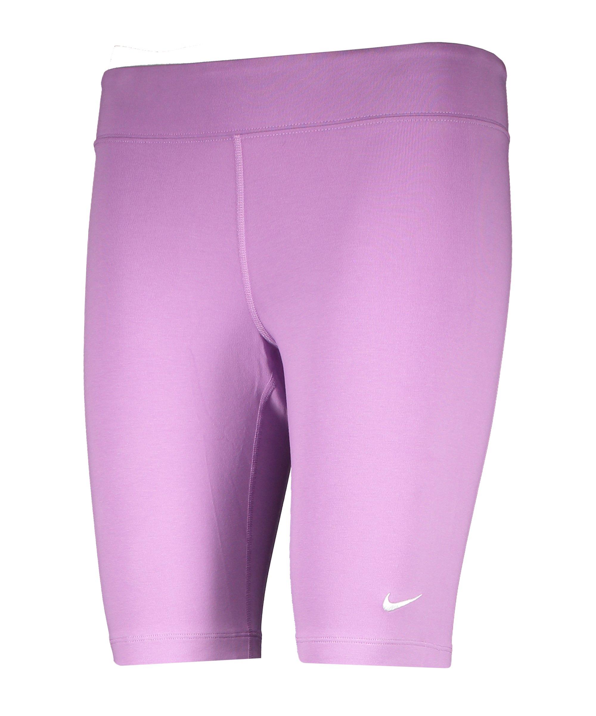 Nike Essential Biker Short Damen Lila Weiss F591 - lila