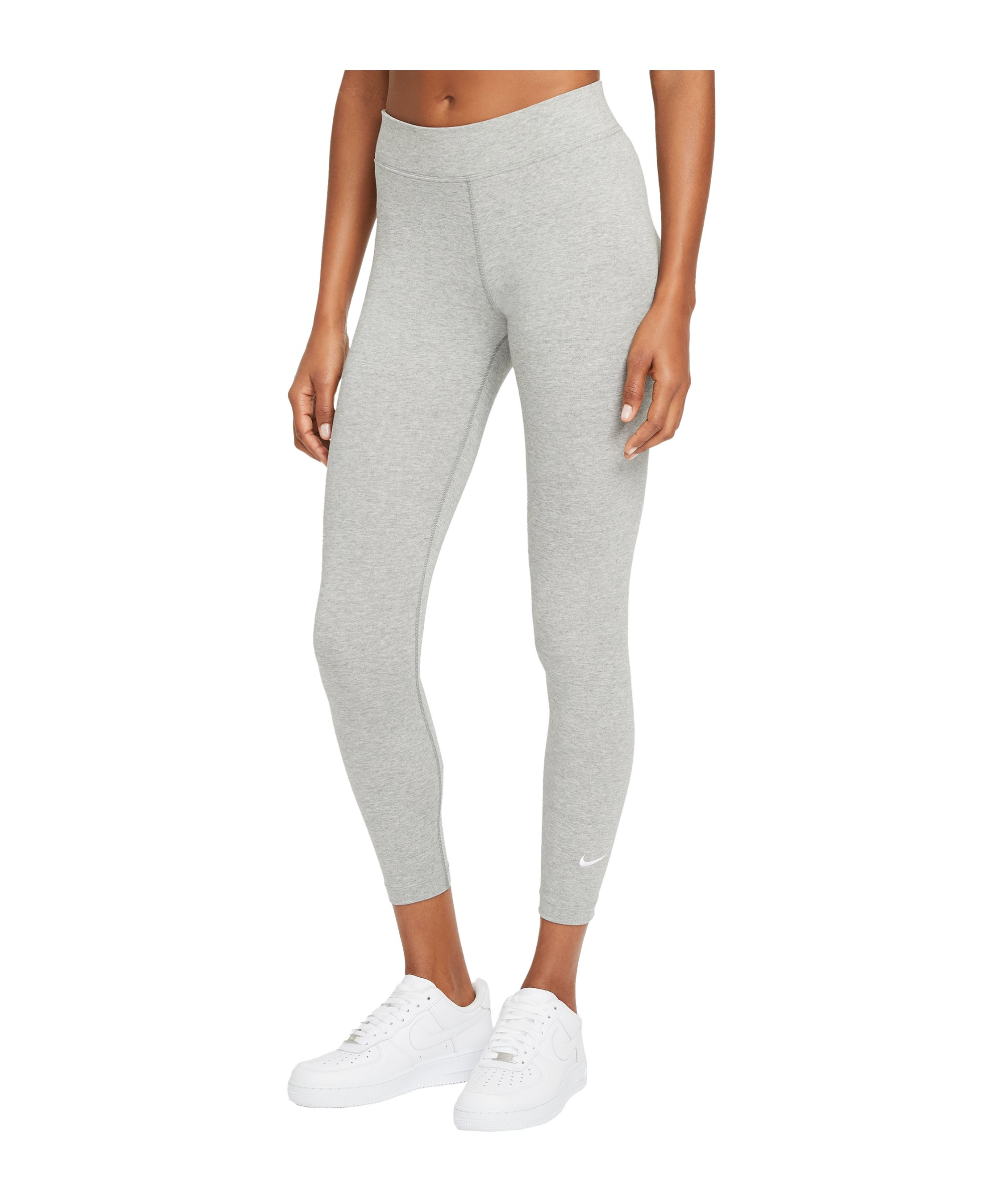 Nike Essentials 7/8 Leggings Damen Grau Weiss F010 - grau