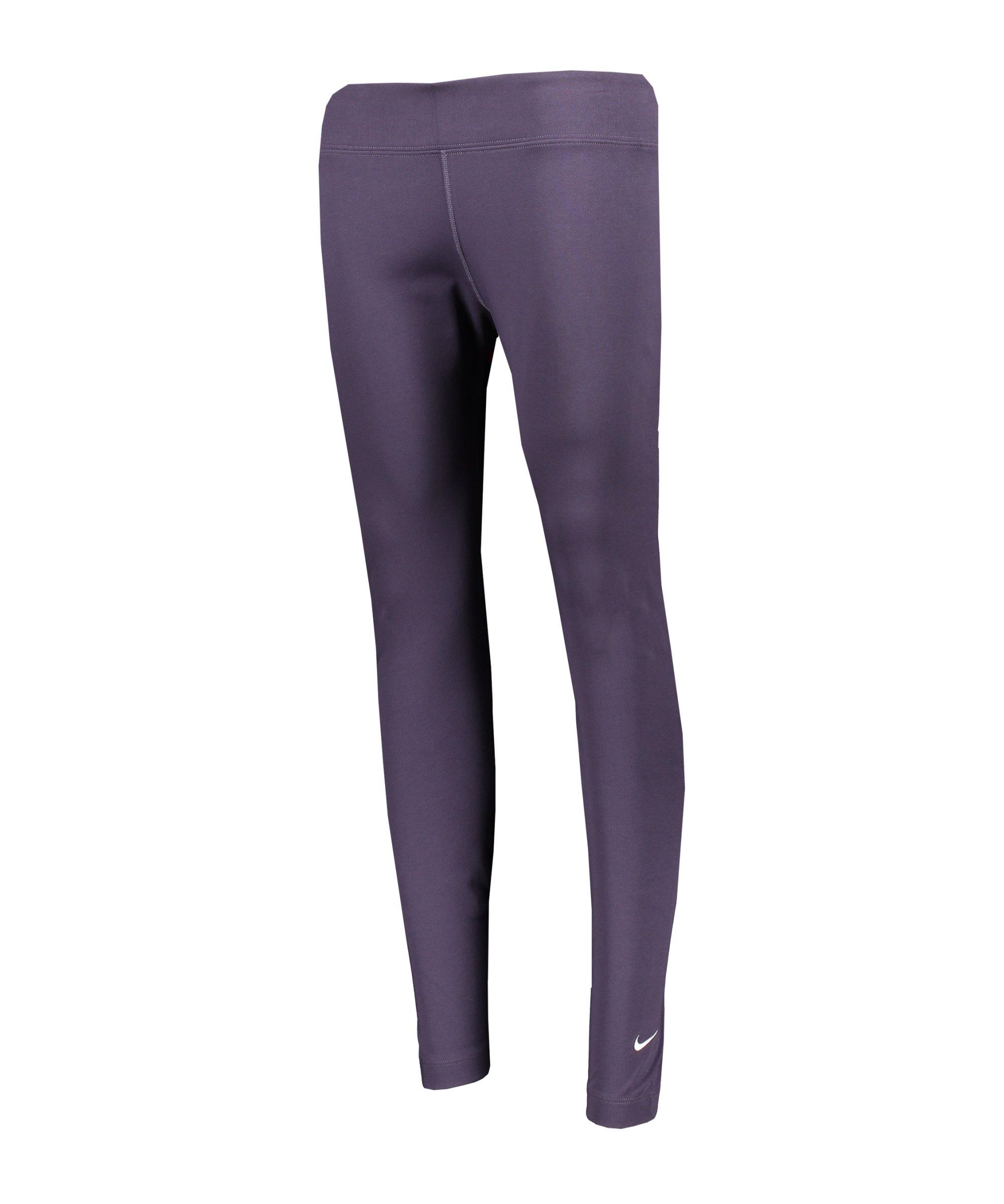 Nike Essentials 7/8 Leggings Damen Lila Weiss F573 - lila