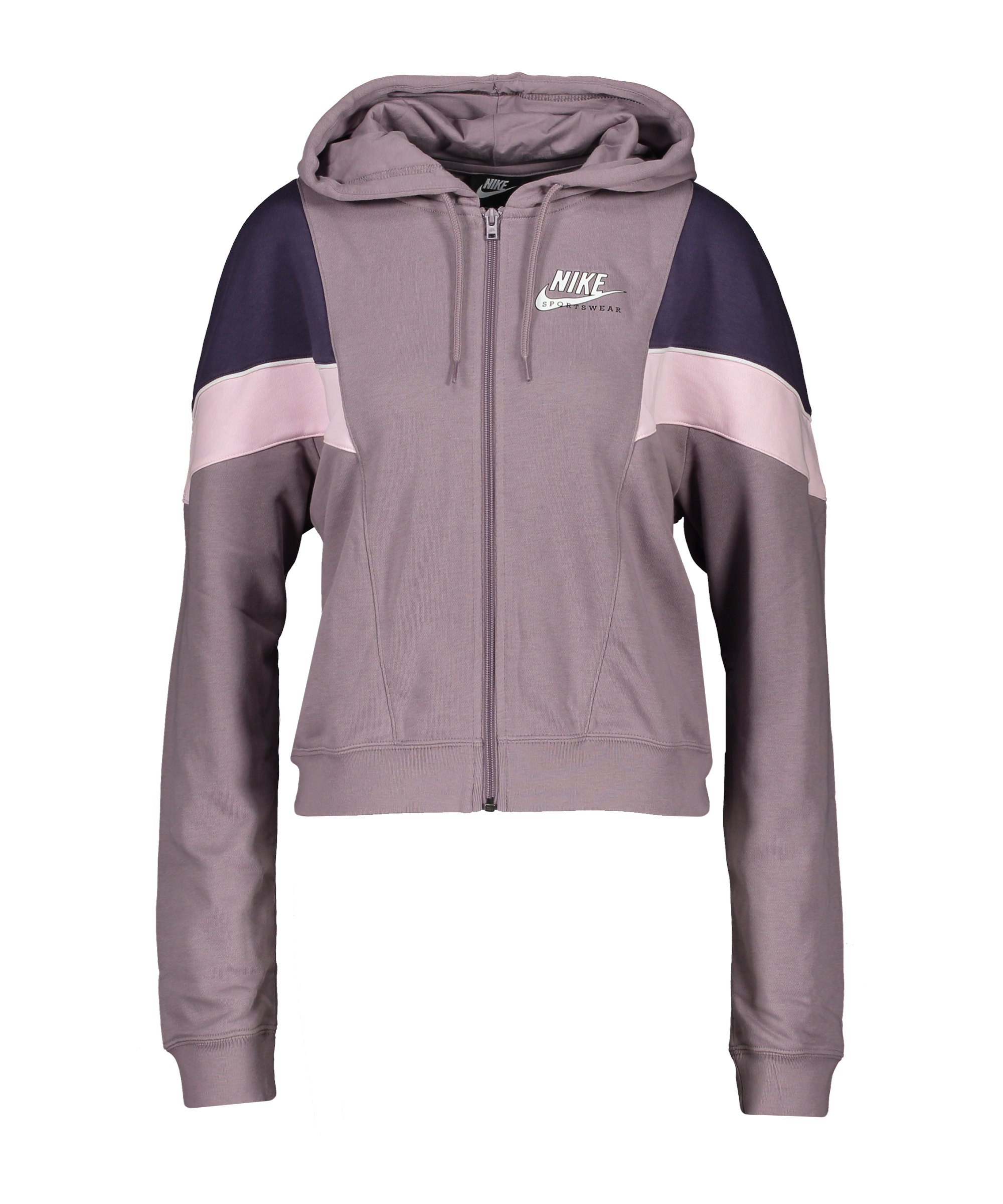Nike Heritage Kapuzenjacke Damen Lila Weiss F531 - lila