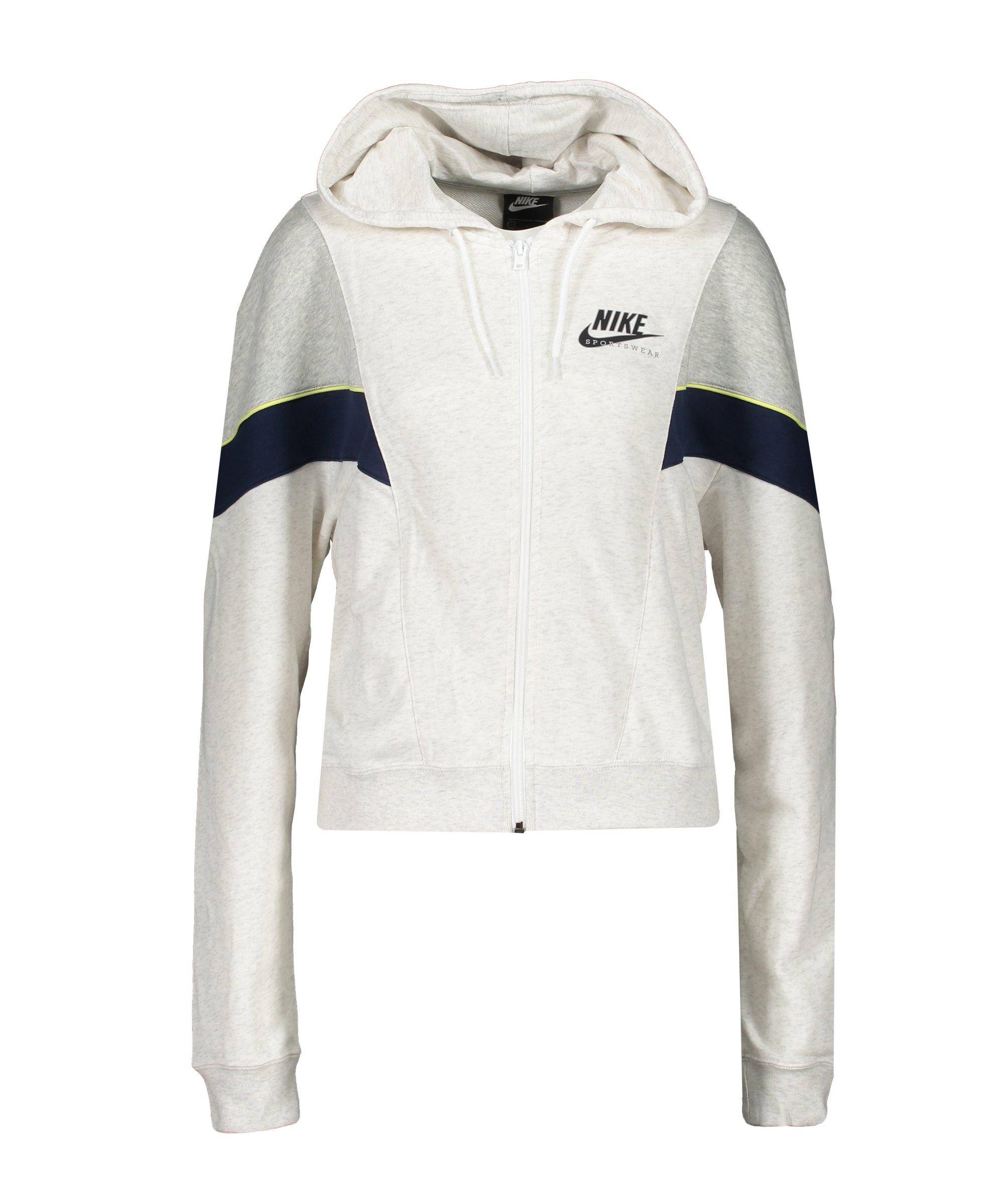 Nike Heritage Kapuzenjacke Damen Weiss F051 - weiss