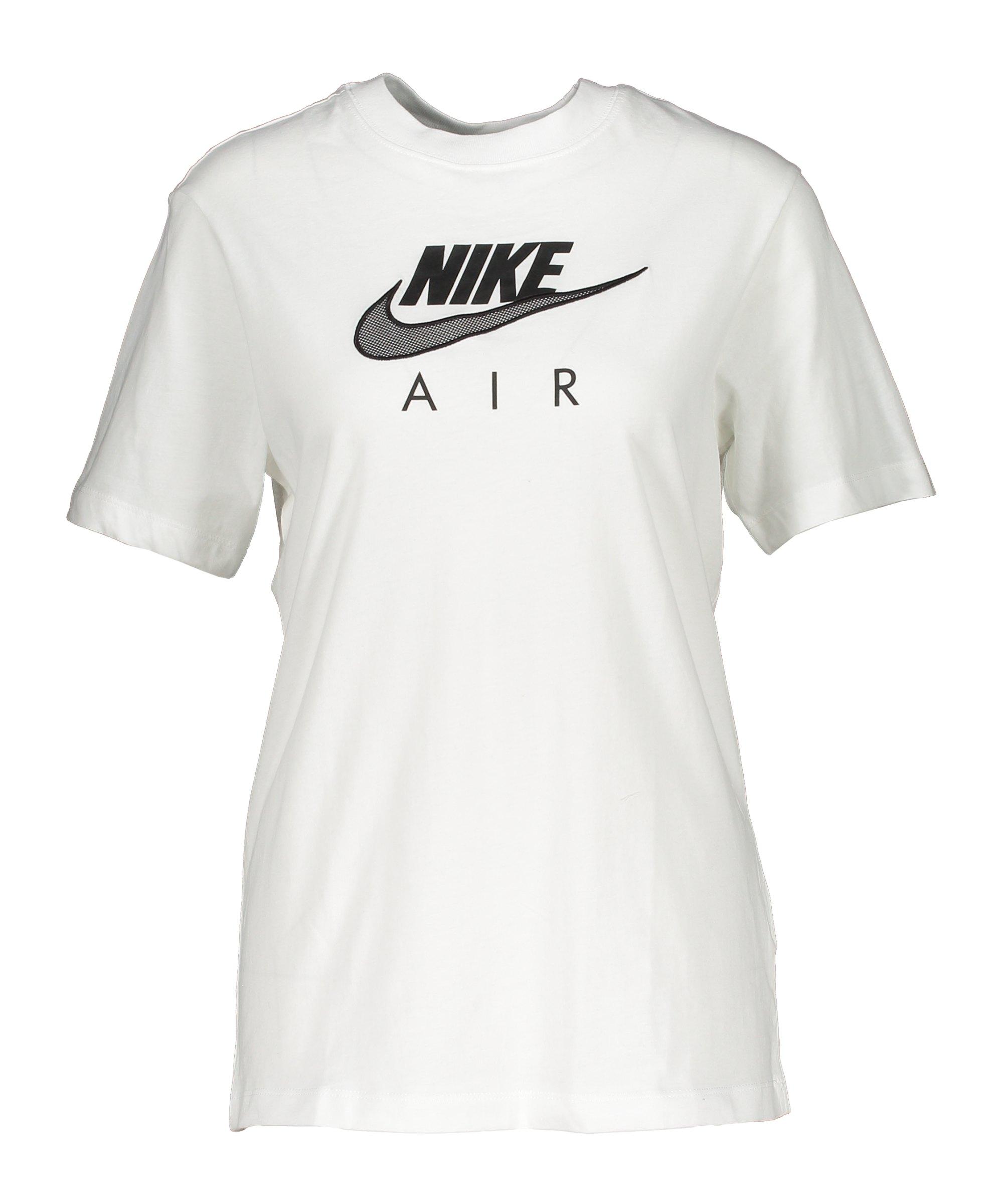 Nike Air Boyfriend Top Damen Weiss Schwarz F100 - weiss