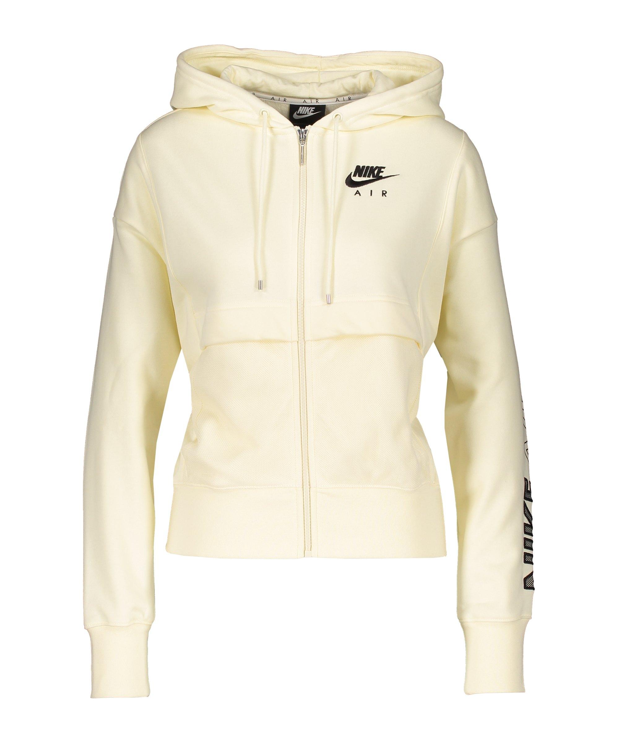 Nike Air Kapuzenjacke Damen Beige Schwarz F113 - beige