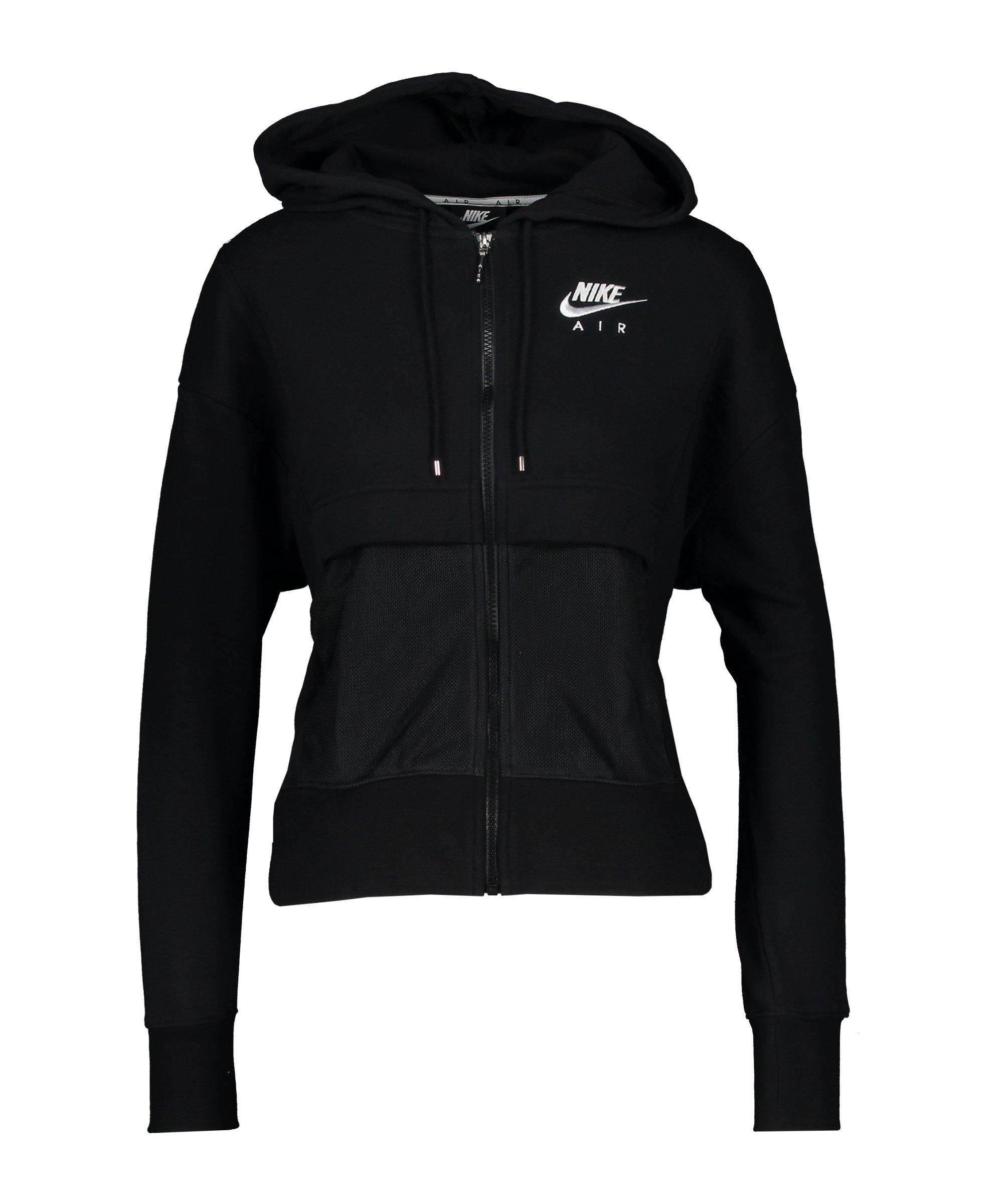 Nike Air Kapuzenjacke Damen Schwarz Weiss F010 - schwarz