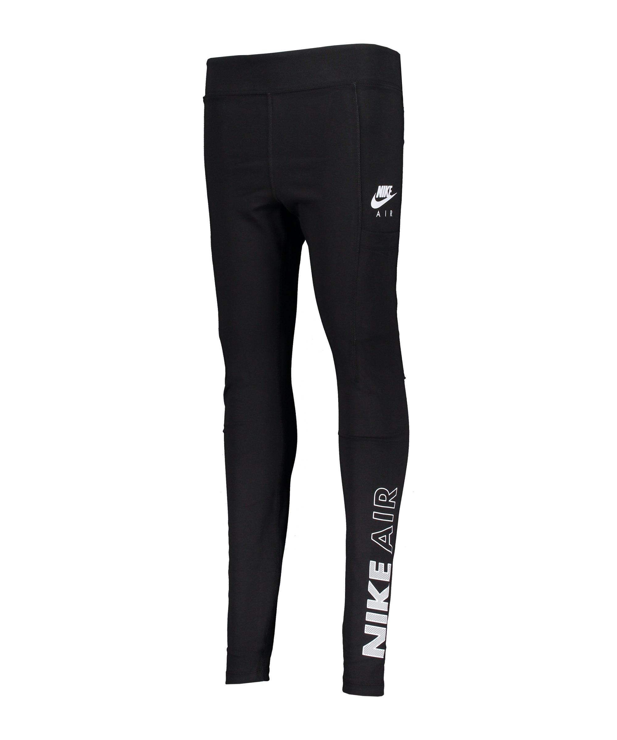 Nike Air Leggings Damen Schwarz Weiss F010 - schwarz