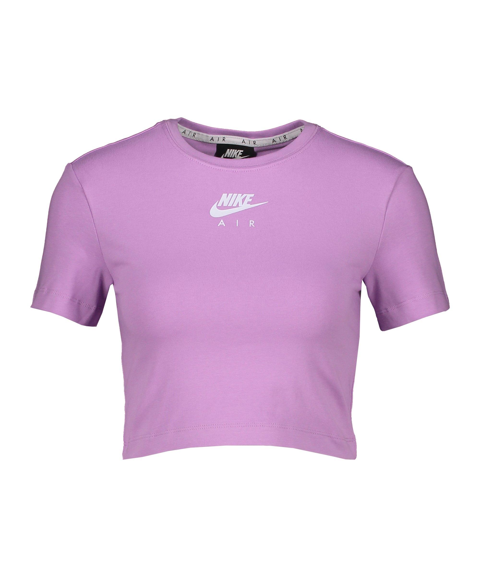Nike Air Crop T-Shirt Damen Lila Weiss F591 - lila