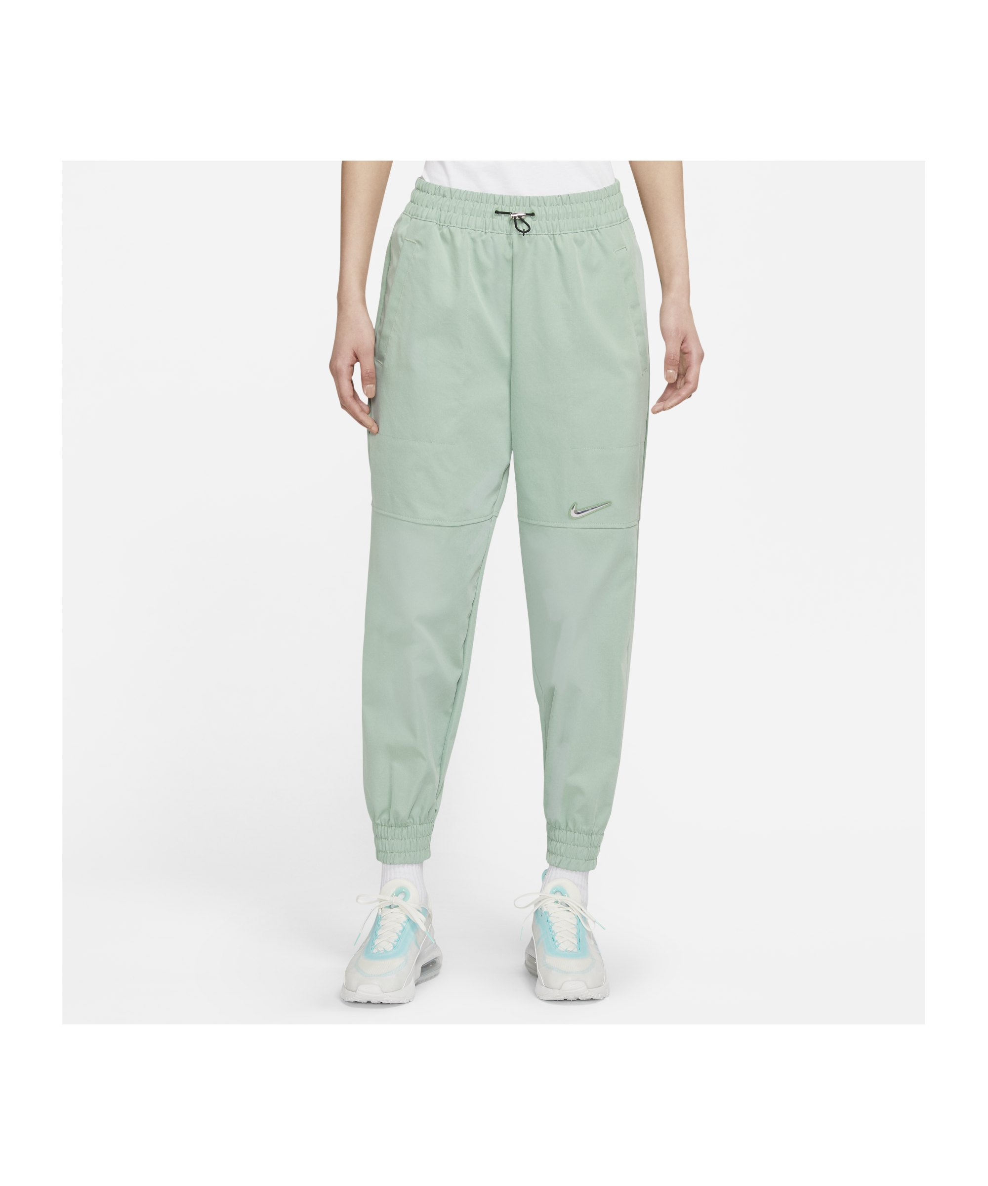 Nike Swoosh Woven Jogginghose Damen Grün F006 - grau