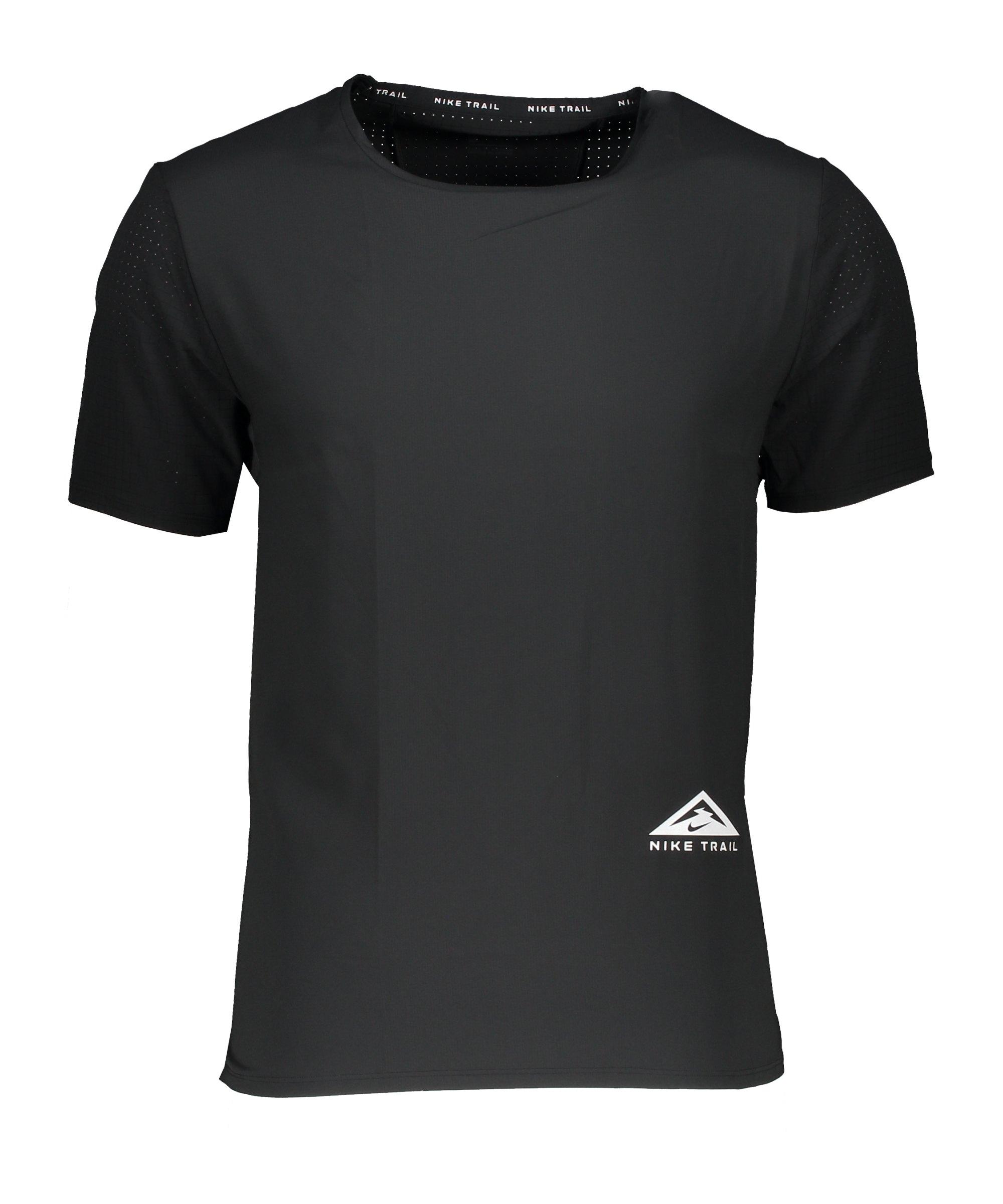 Nike Trail Rise 365 T-Shirt Running Schwarz F010 - schwarz