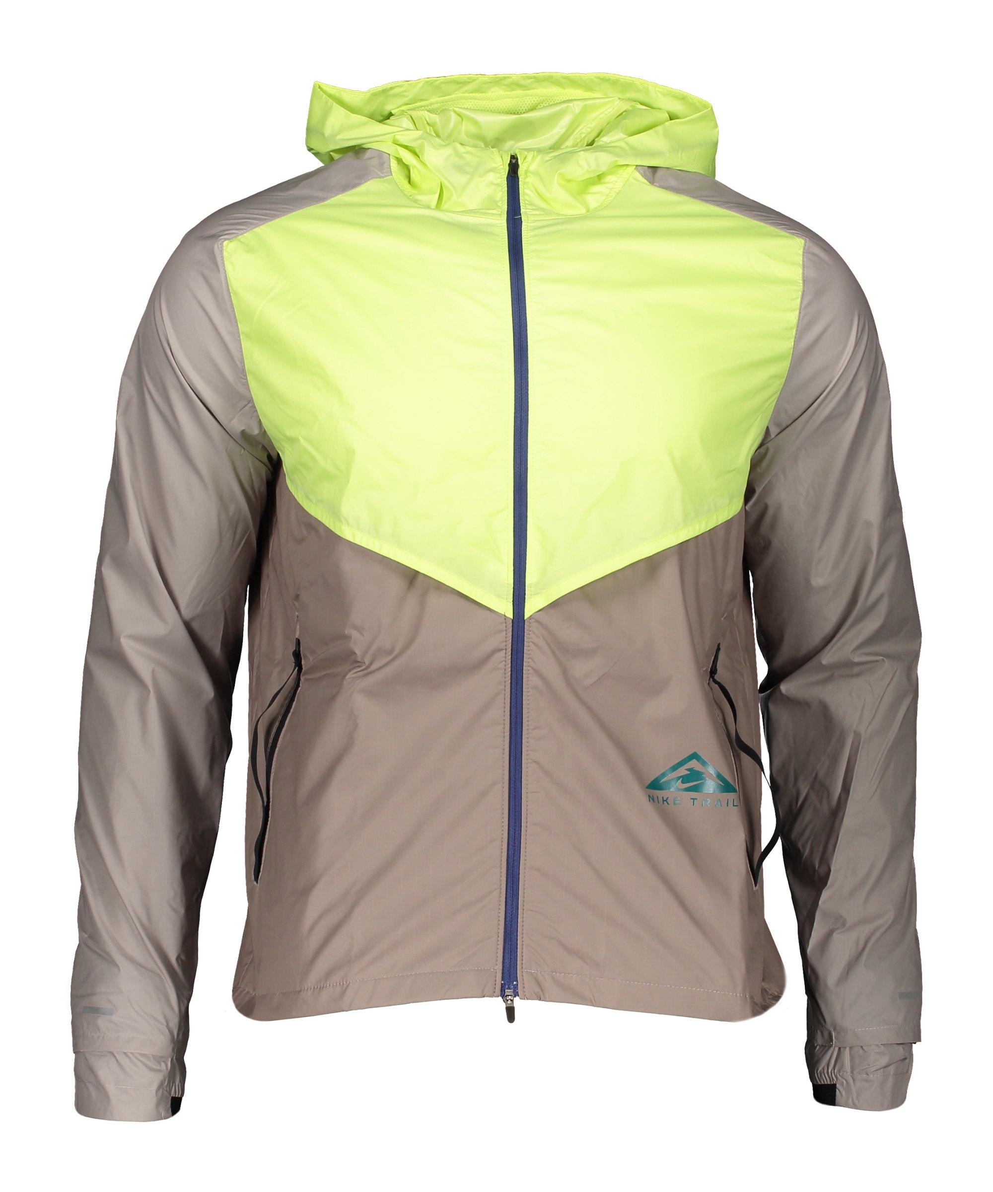 Nike Windrunner Trail Jacke Running Gelb Grau F736 - braun