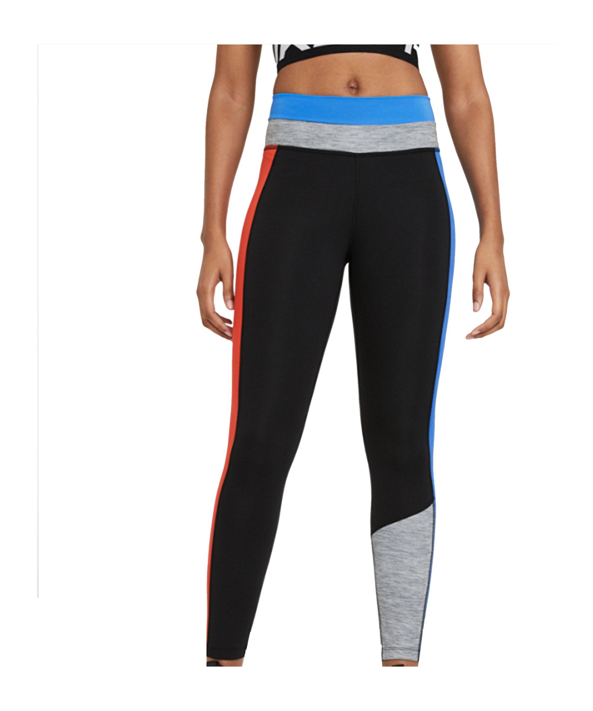 Nike One 7/8 CLRBLK Leggings Training Damen F011 - schwarz