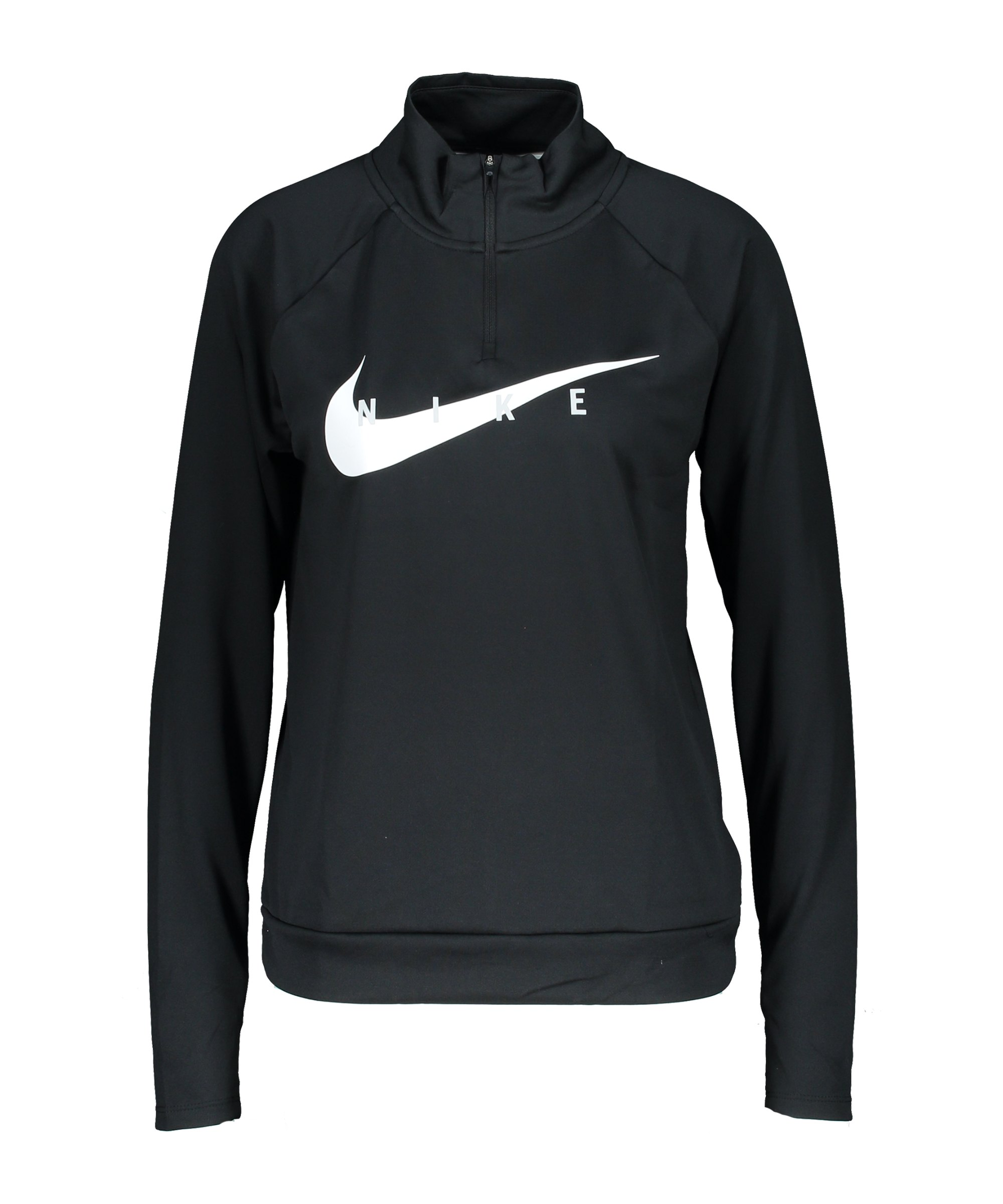Nike Swoosh Run Drill Top Running Damen F010 - schwarz
