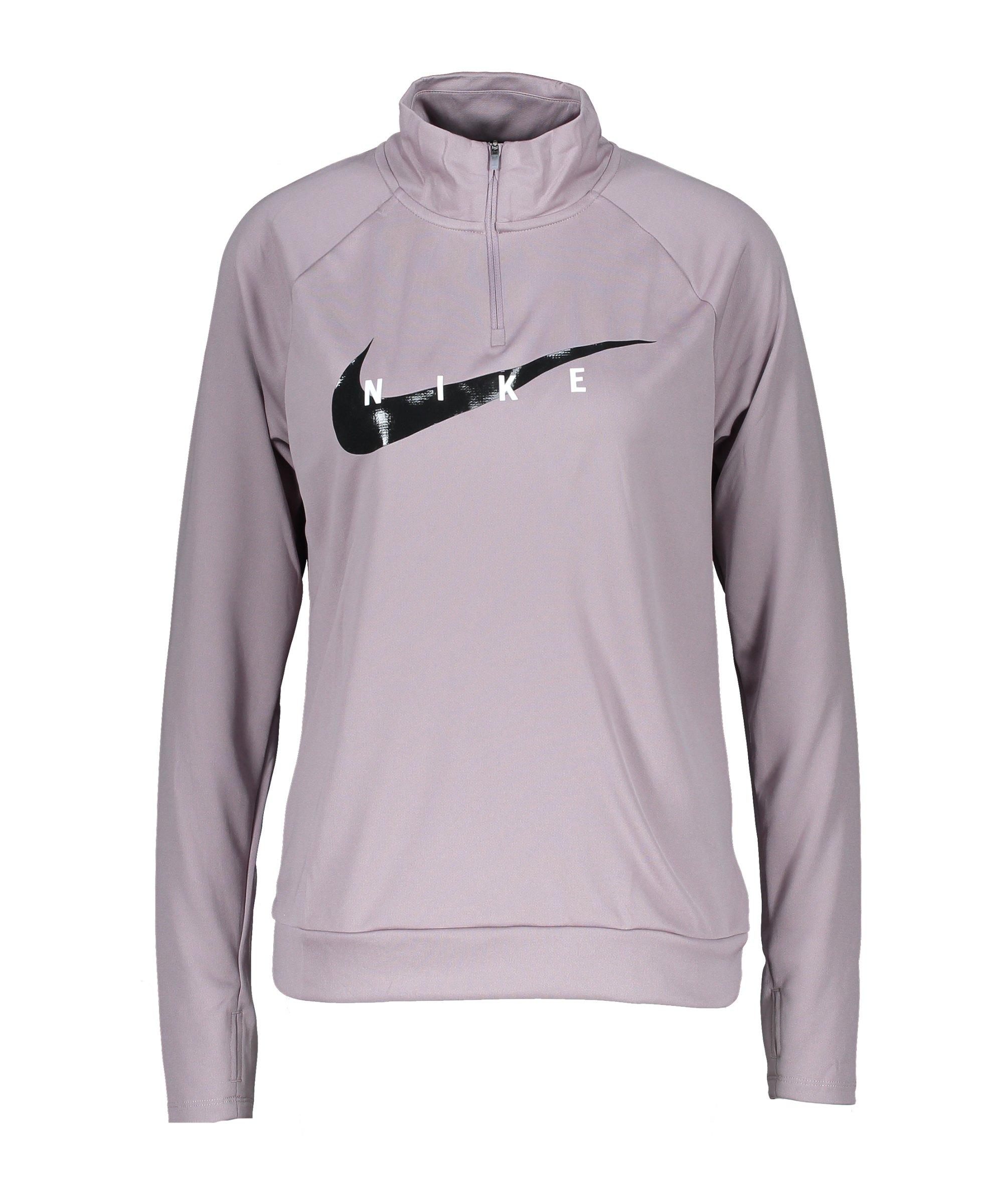 Nike Swoosh Run Drill Top Running Damen Lila F531 - lila