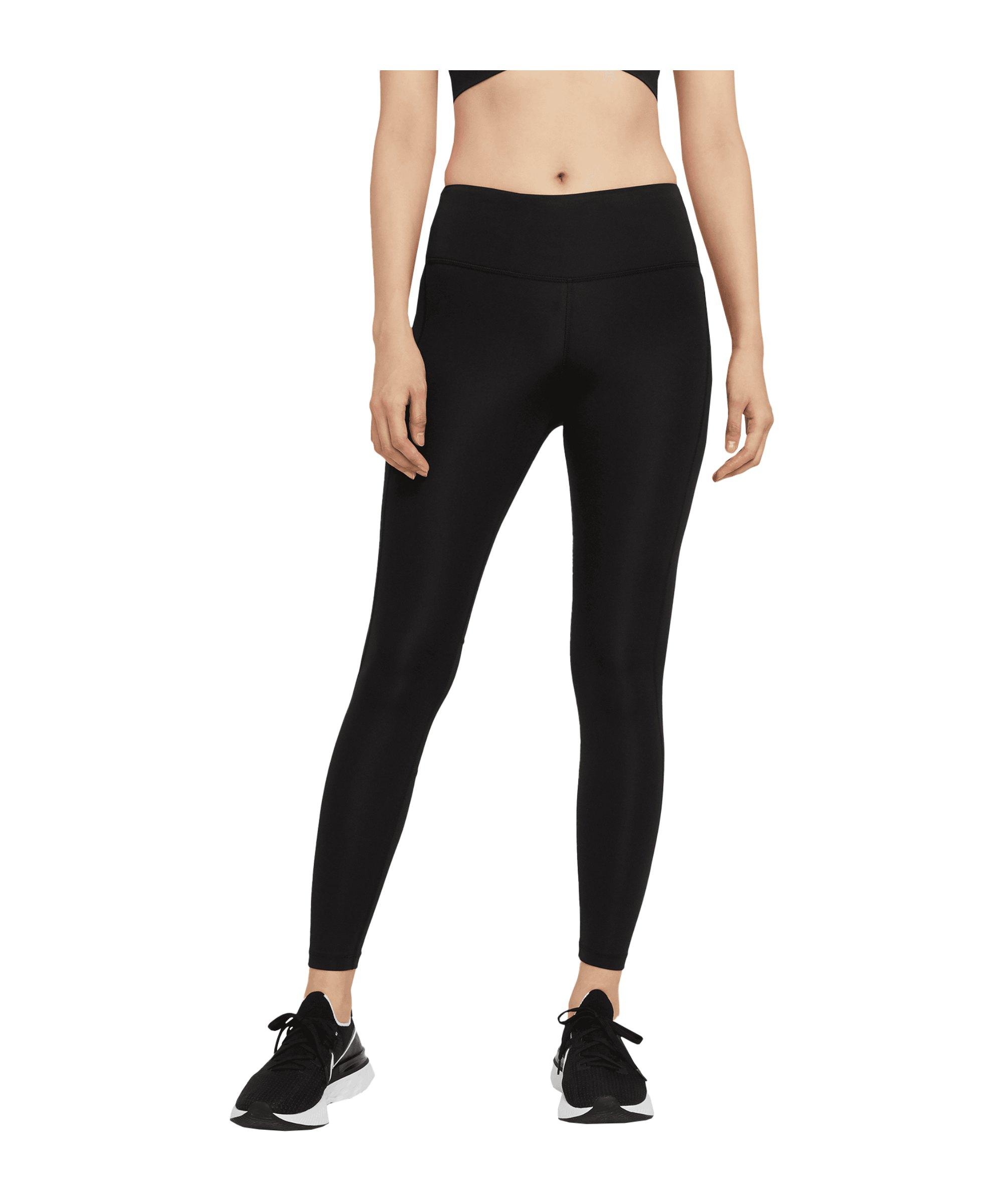 Nike Fast Leggings Running Damen Schwarz F010 - schwarz