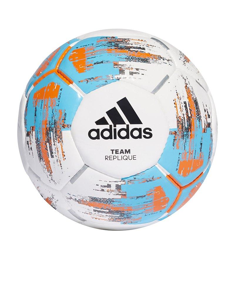 adidas Team Replique Trainingsball Weiss - weiss