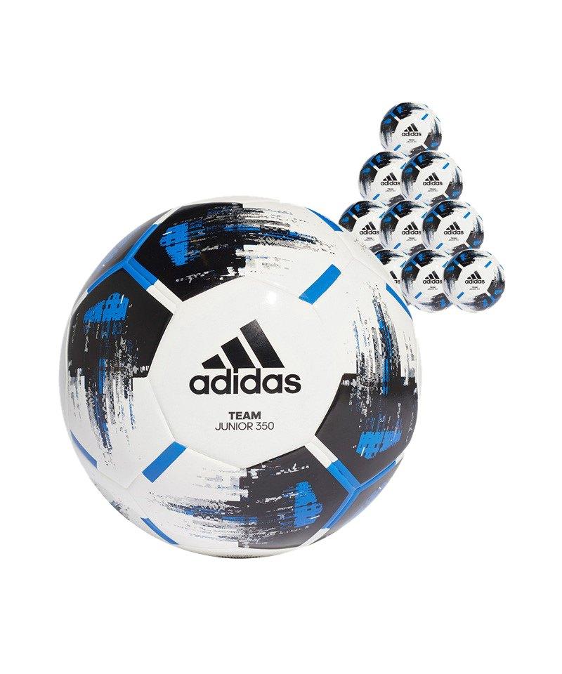adidas Team Junior 350 Gramm 10xFußball Gr.4 Weiss - weiss