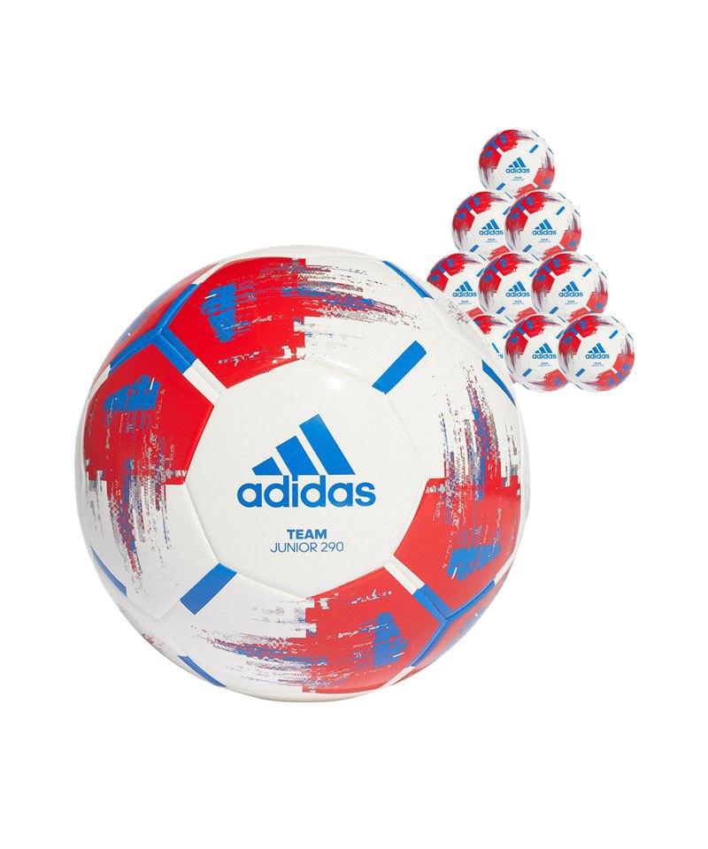 adidas Team Junior 290 Gramm 10xFußball Gr.4 Weiss - weiss