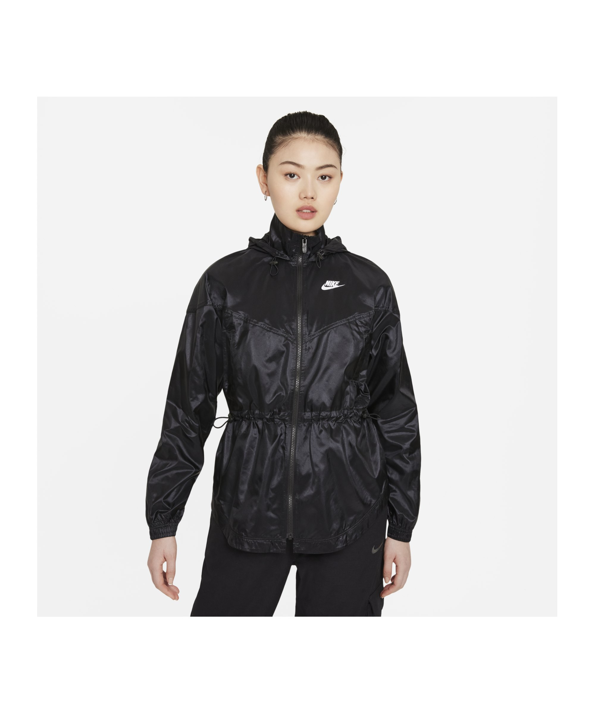 Nike Windrunner Jacke Damen Schwarz F010 - schwarz