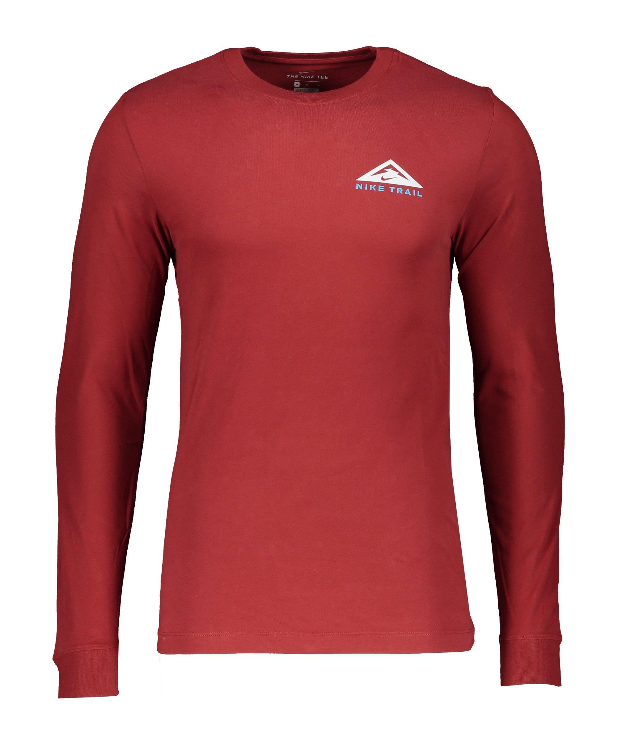 Nike Trail Sweatshirt Running Rot F689 - rot
