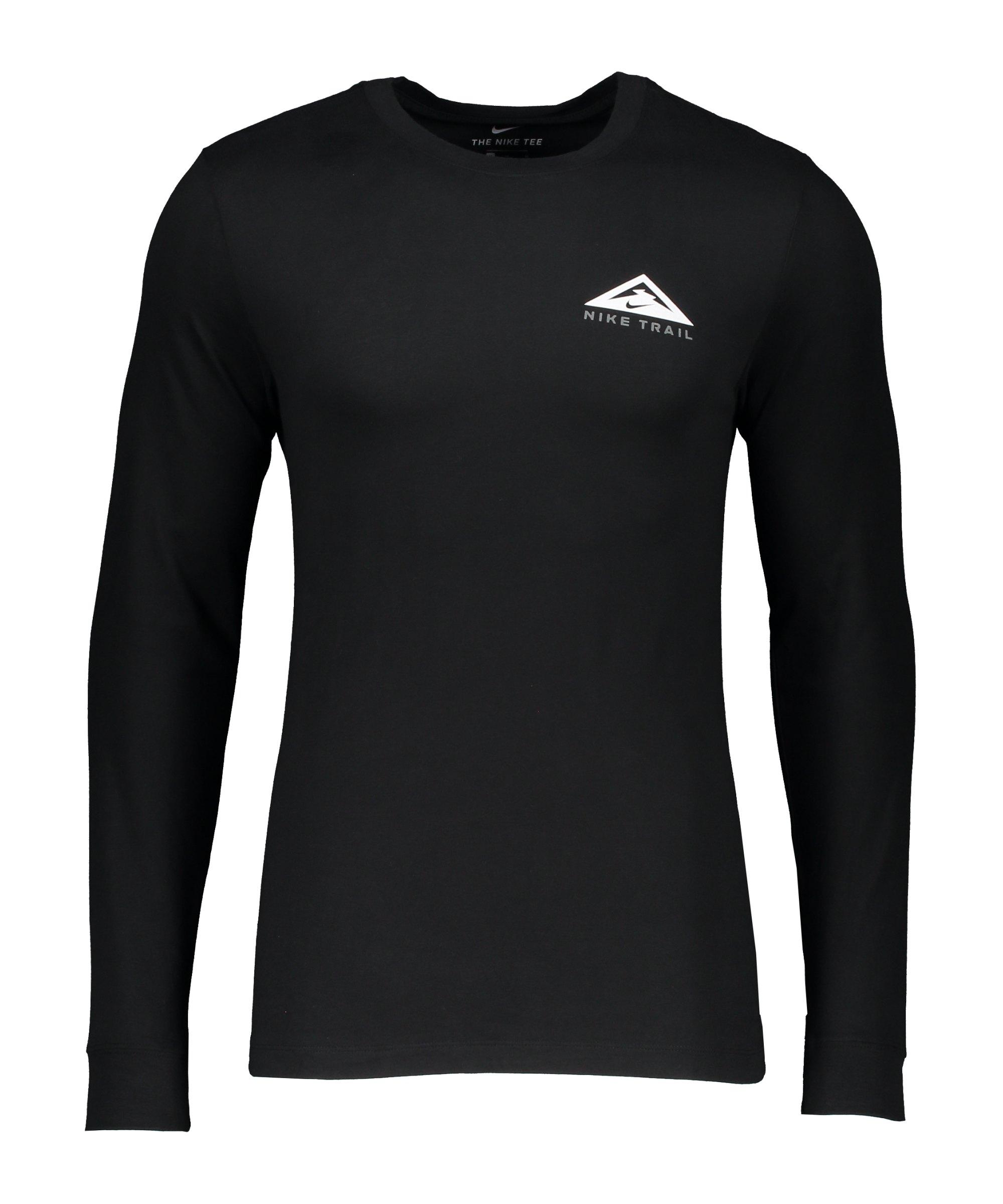 Nike Trail Sweatshirt Running Schwarz F010 - schwarz