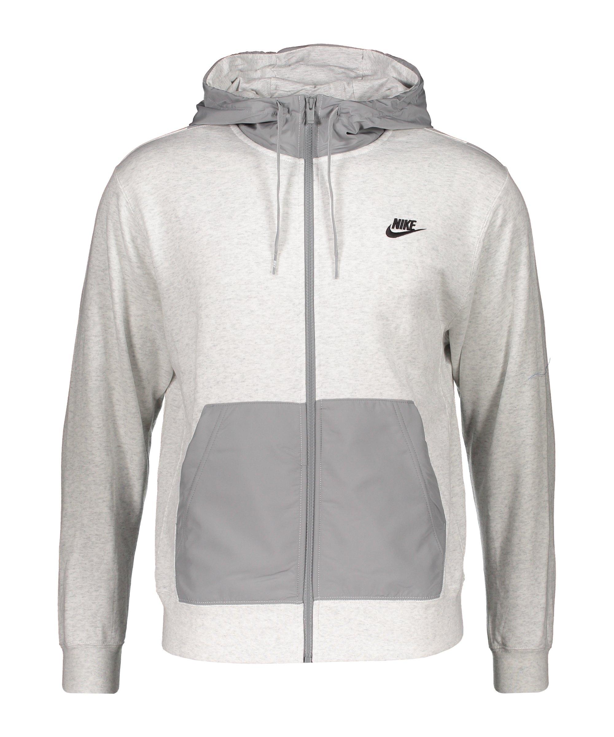 Nike Kapuzenjacke Weiss F051 - grau