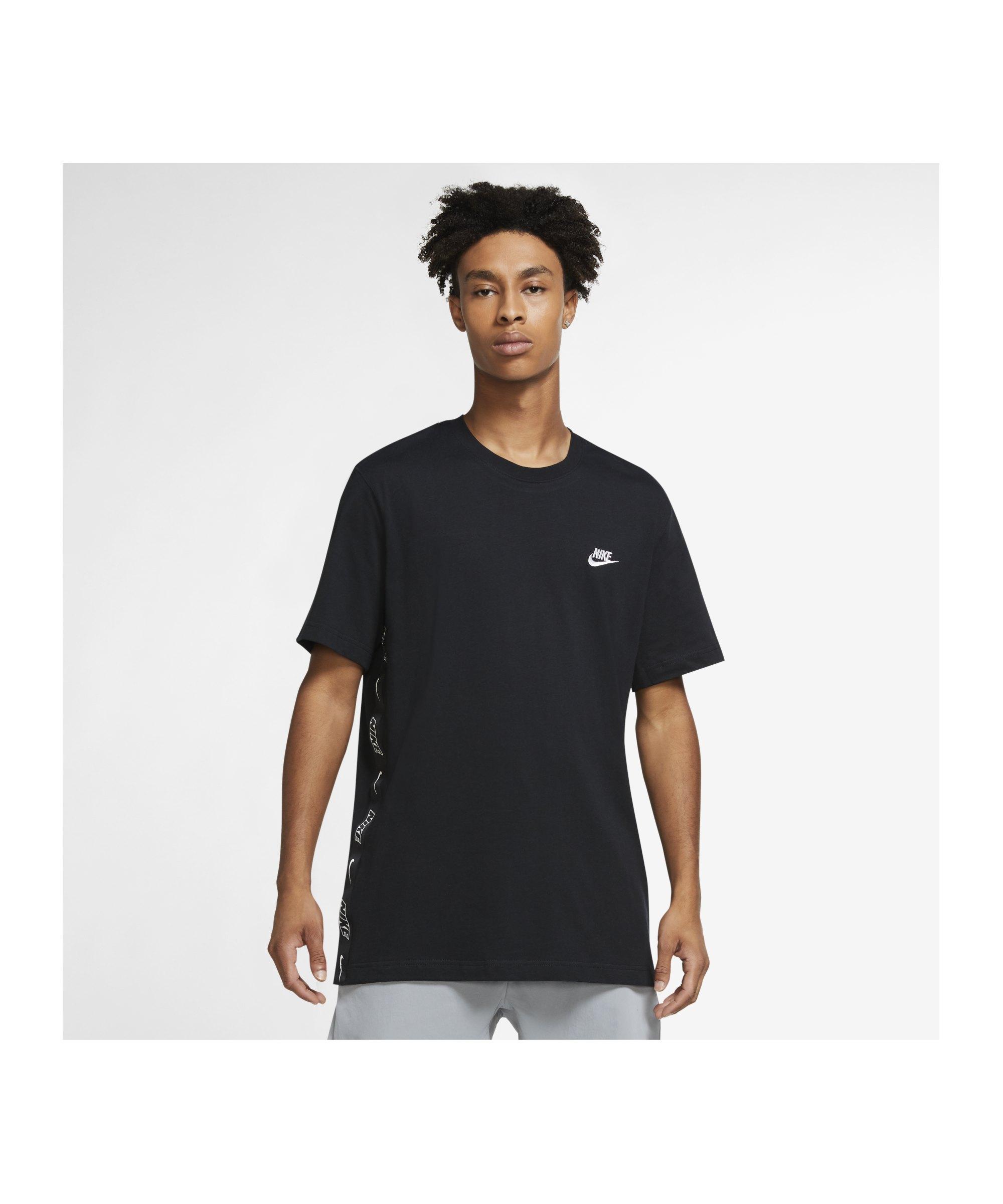 Nike Knit T-Shirt Schwarz F010 - schwarz