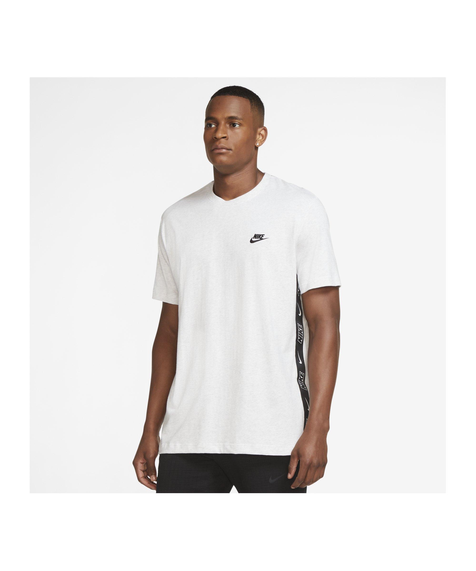 Nike Knit T-Shirt Weiss F051 - grau