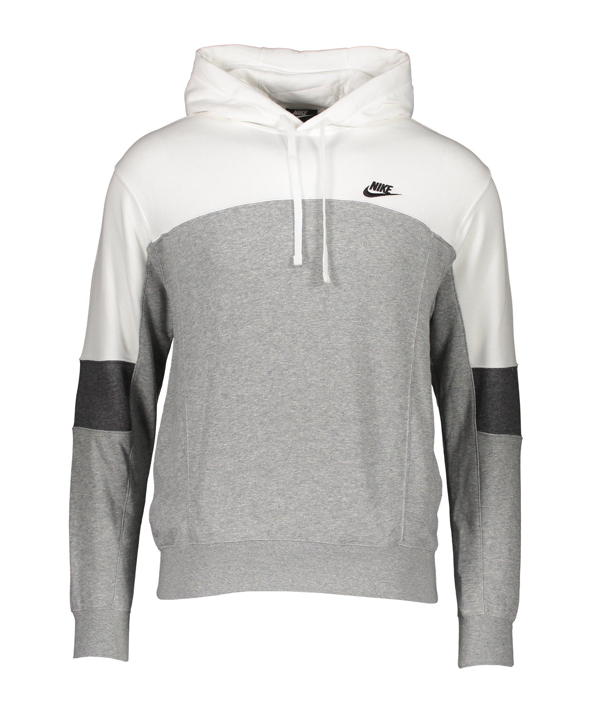 Nike Colorblock Hoody Weiss Grau F100 - weiss