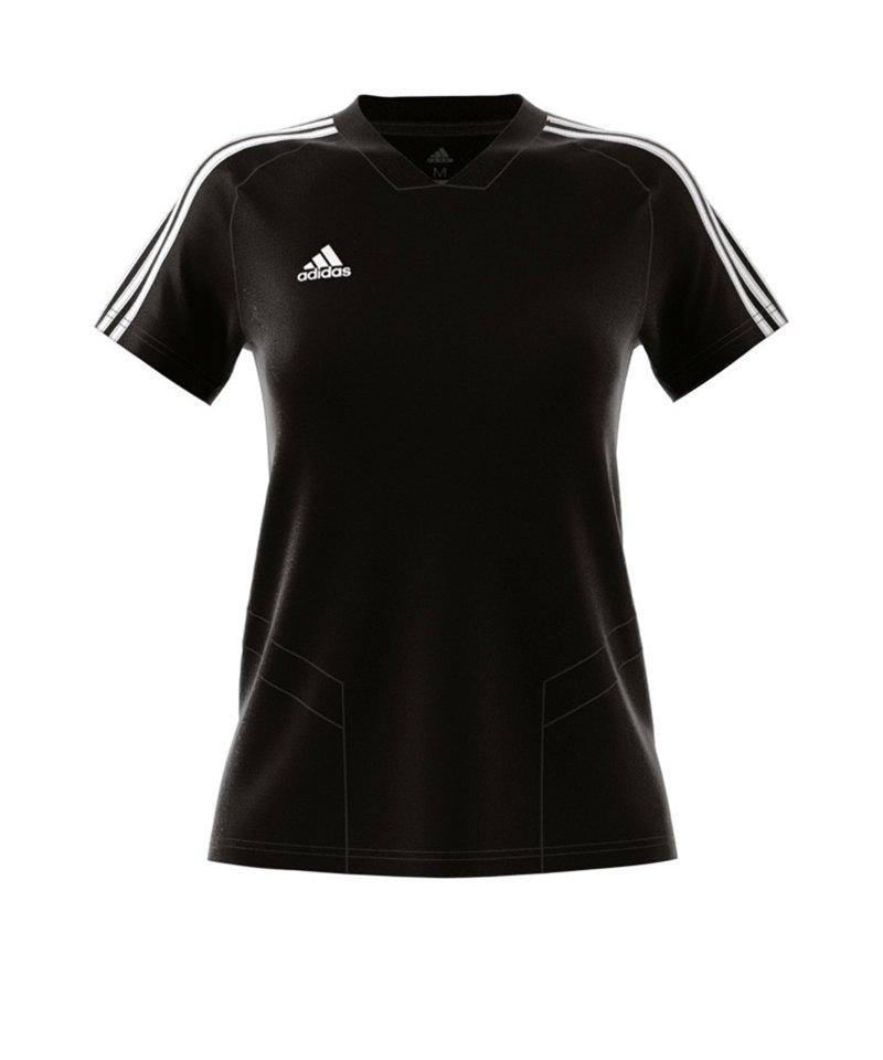 adidas Tiro 19 Trainingsshirt Damen Schwarz Weiss - schwarz