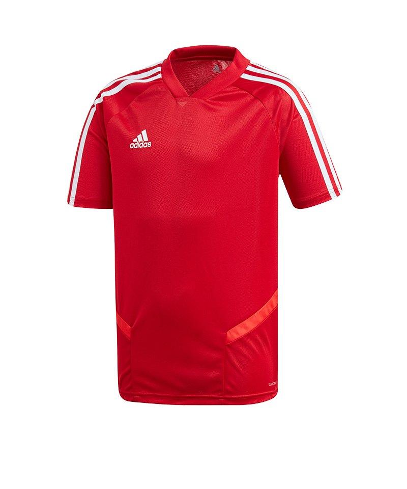 adidas Tiro 19 Trainingsshirt Kids Rot Weiss - rot