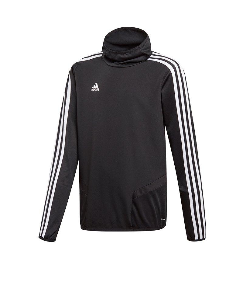 adidas Tiro 19 Warm Top Sweatshirt Kids Schwarz - schwarz