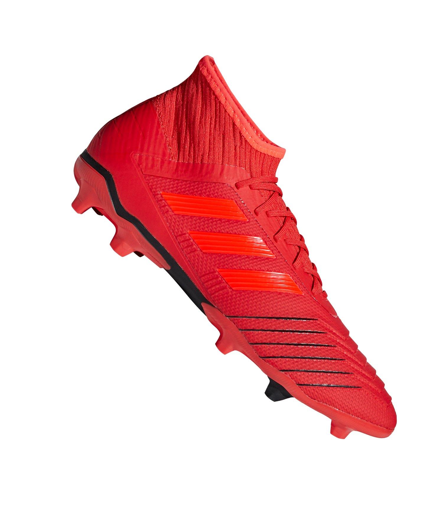 adidas Predator 19.2 FG Rot Schwarz - rot