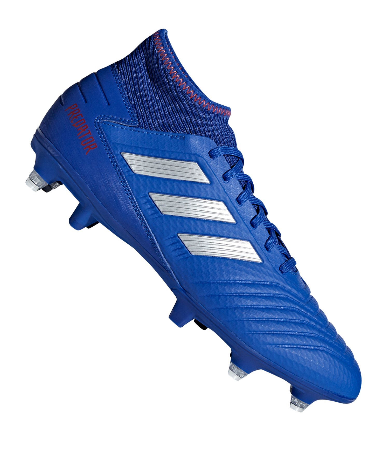 adidas Predator 19.3 SG Blau Silber - blau
