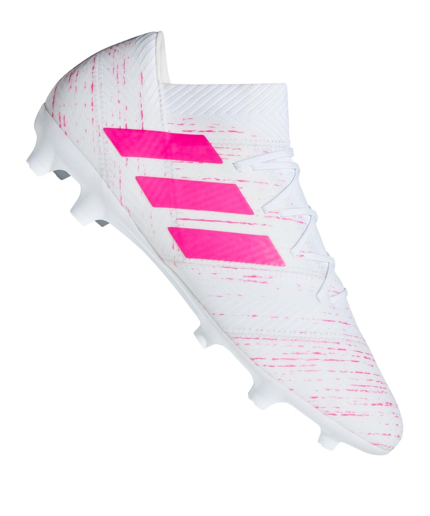 adidas NEMEZIZ 18.2 FG Weiss Pink - weiss