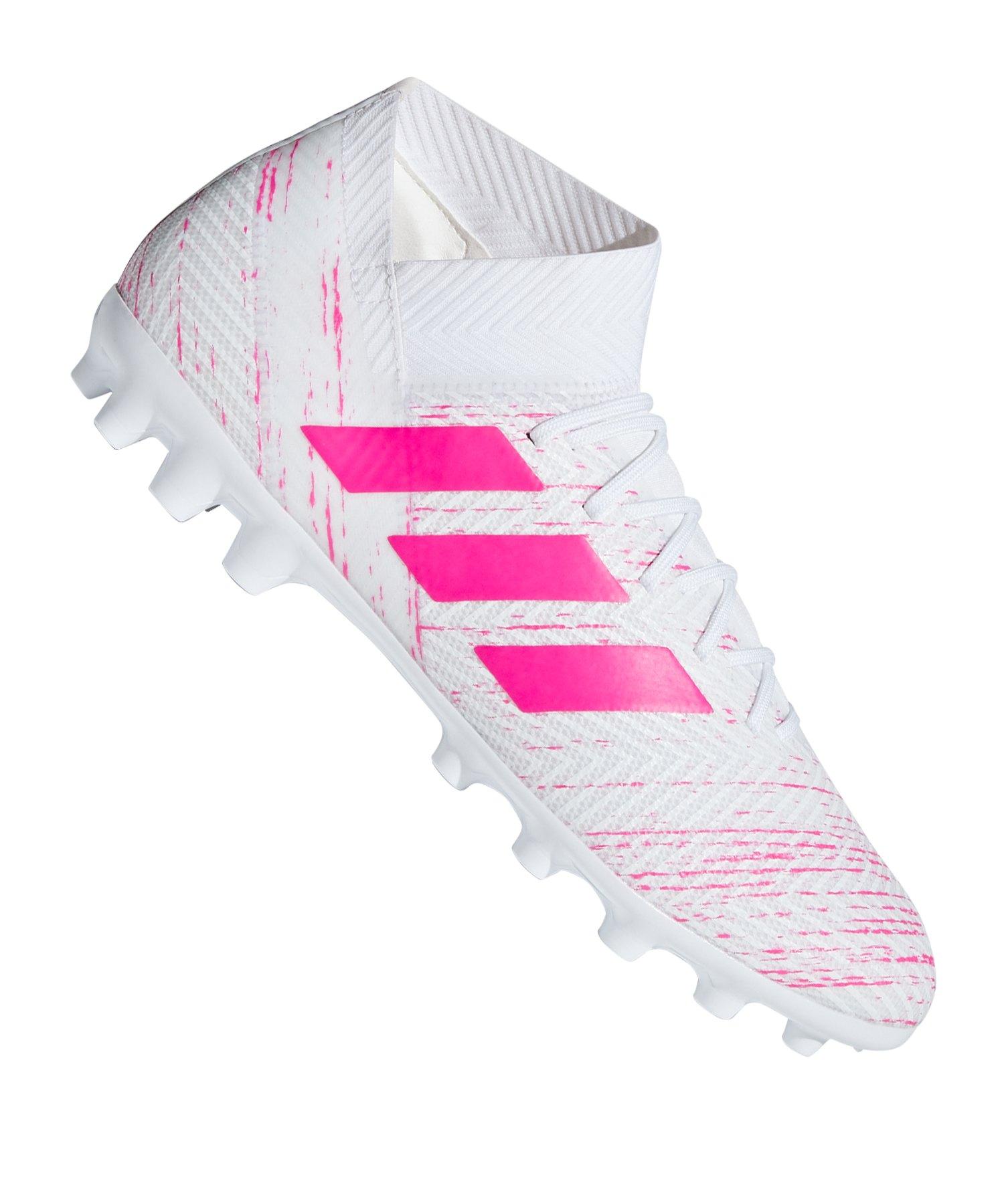 adidas NEMEZIZ 18.3 AG Weiss Pink - weiss